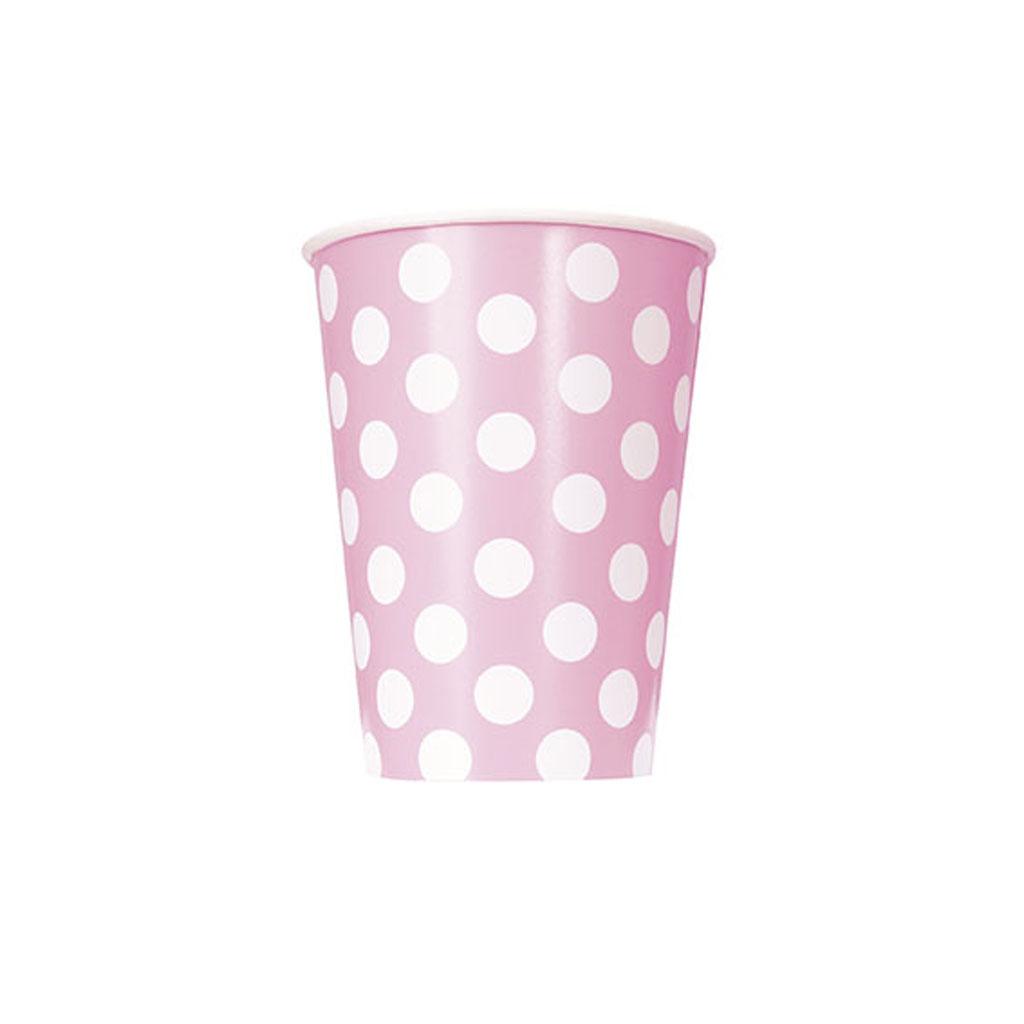 """Pohárik """"ružové bodky"""", 6 ks"""