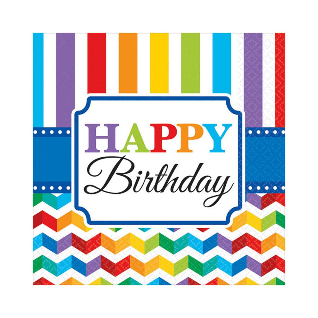 """Servítky """"Happy Birthday"""", 16 ks"""