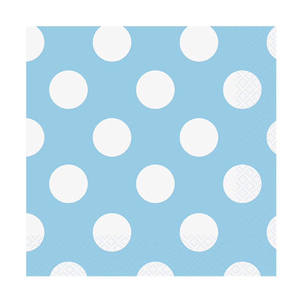"""Servítky """"modré bodky"""", 16 ks"""