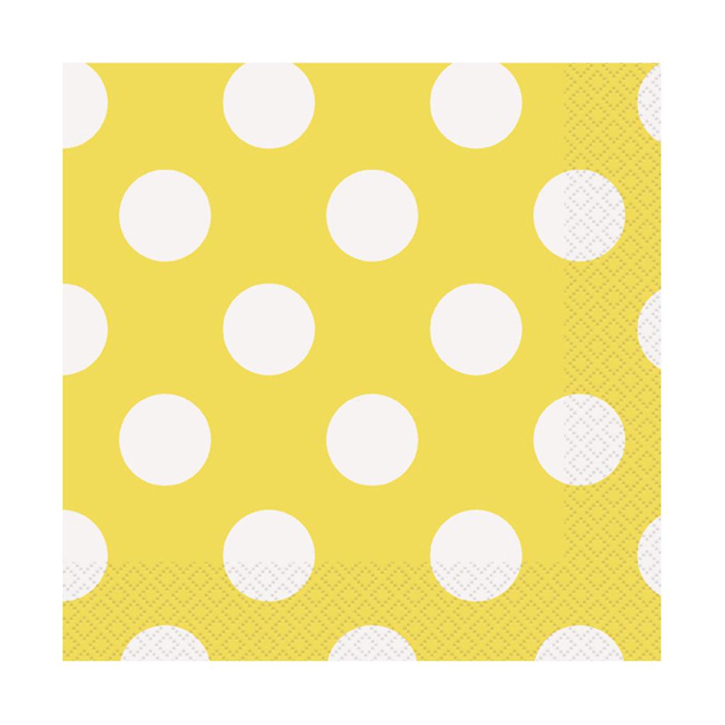 """Servítky """"žlté bodky"""", 16 ks"""