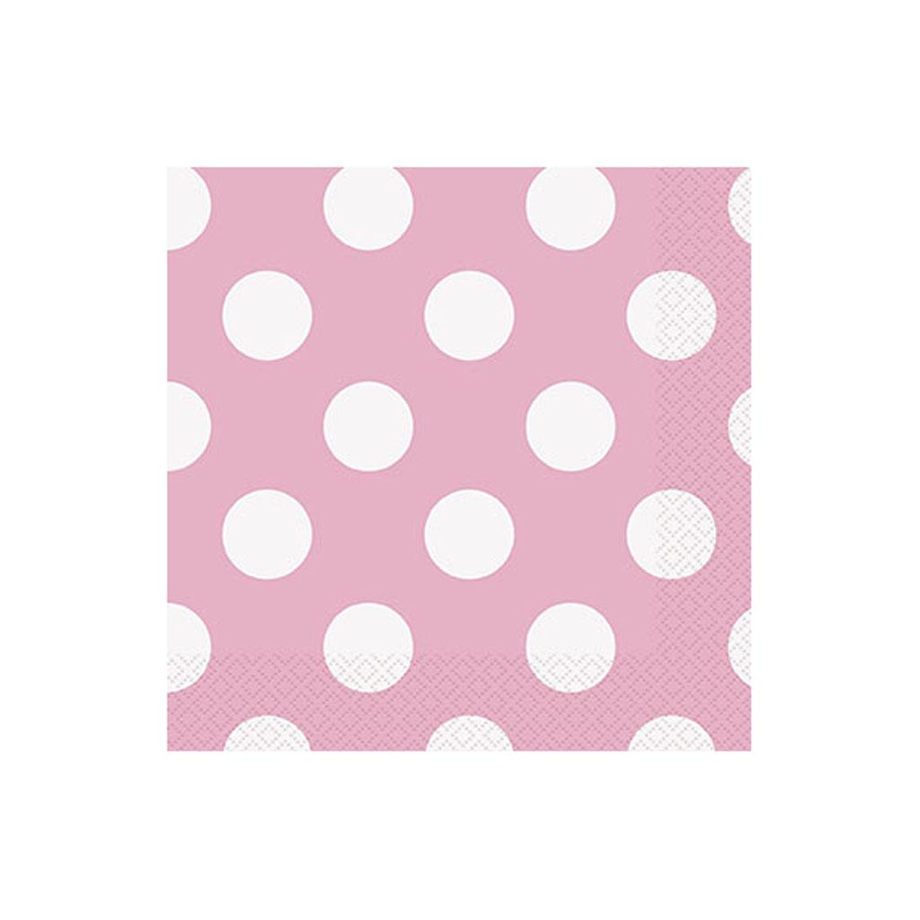 """Servítky """"ružové bodky"""", 16 ks"""