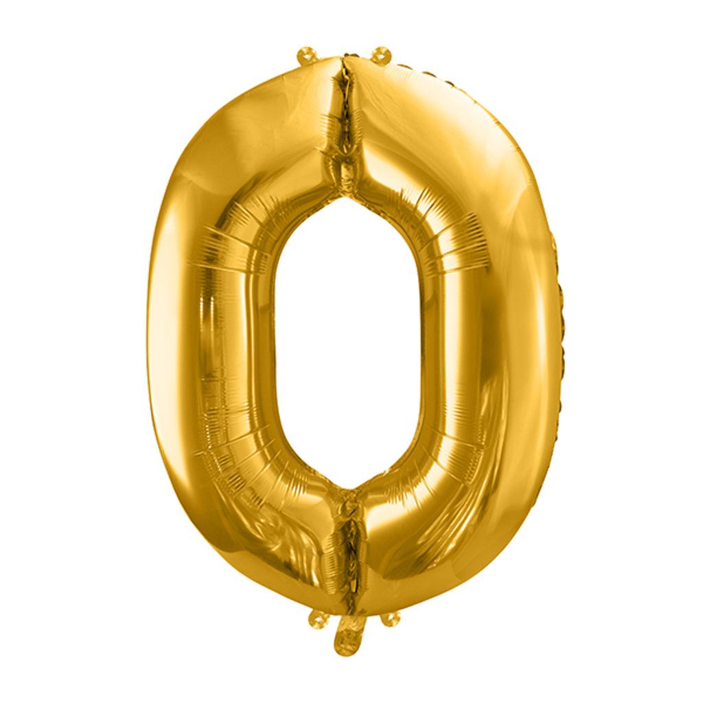 Balón fóliový č.0, zlatý