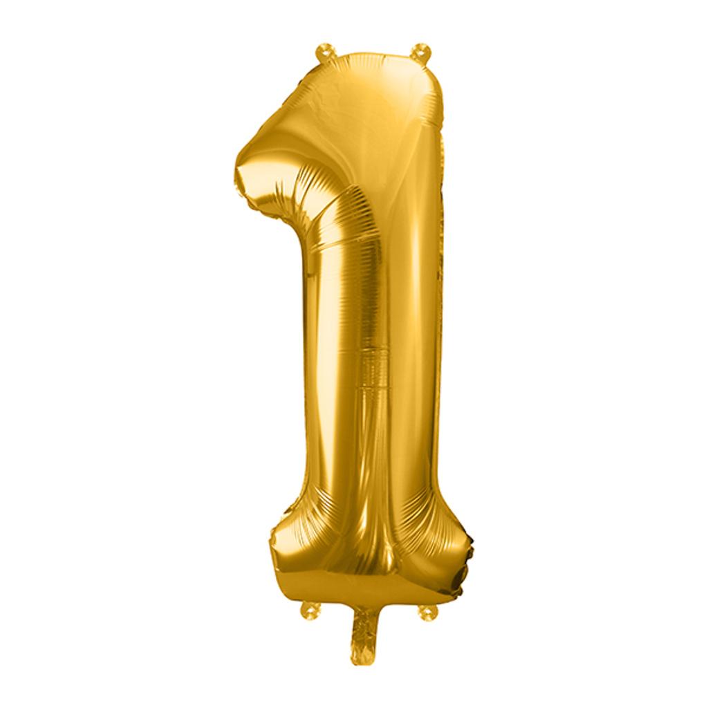 Balón fóliový č.1, zlatý