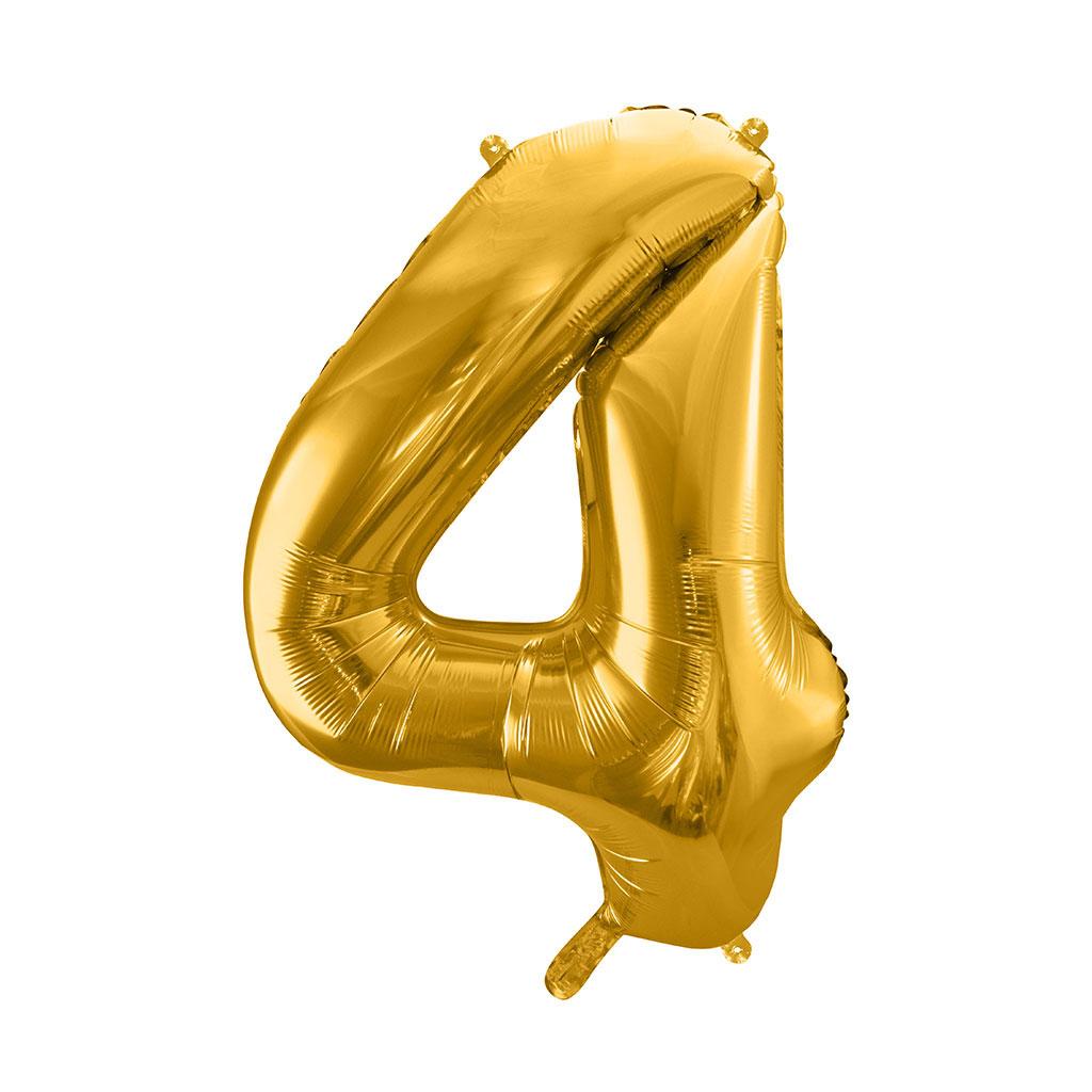 Balón fóliový č.4, zlatý