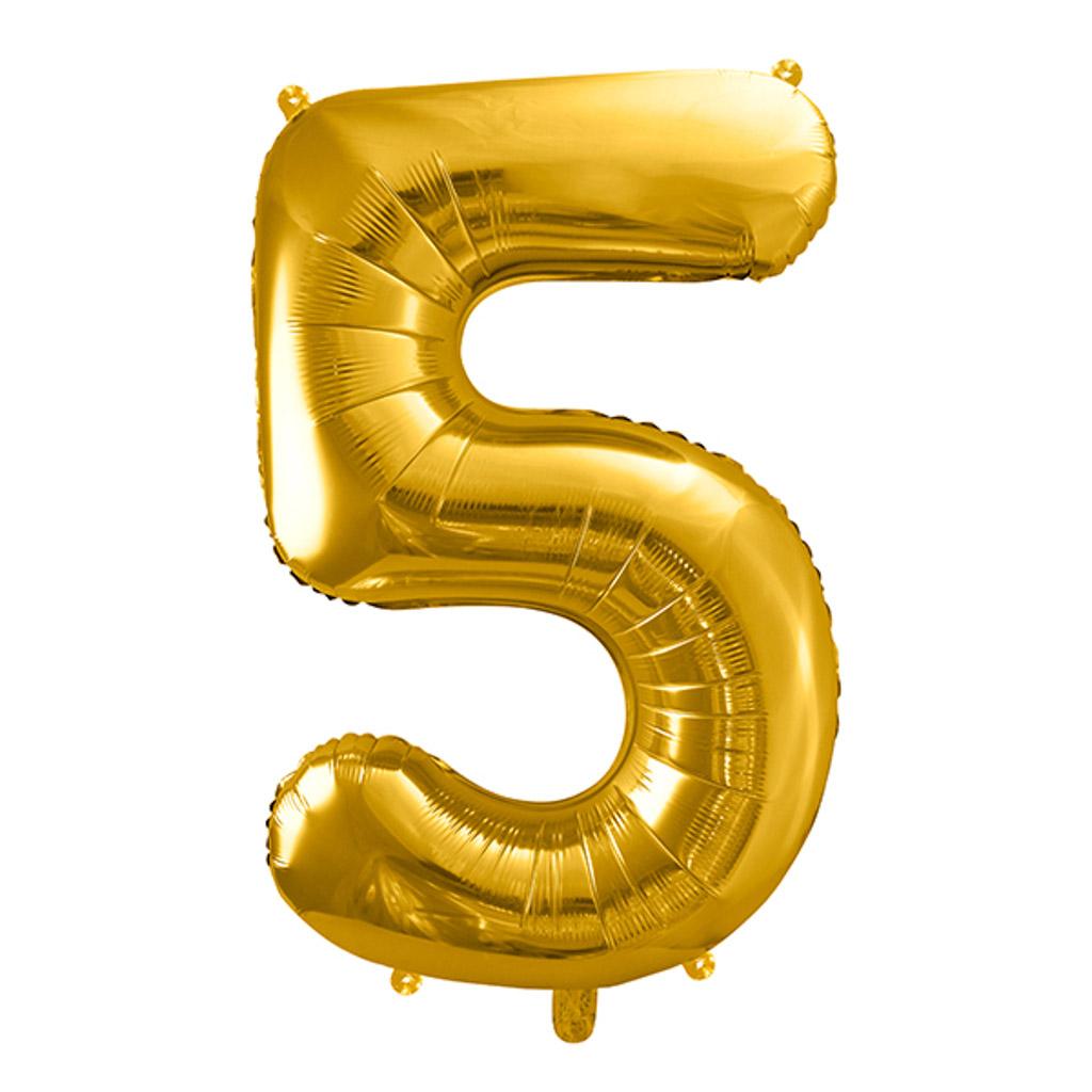 Balón fóliový č.5, zlatý