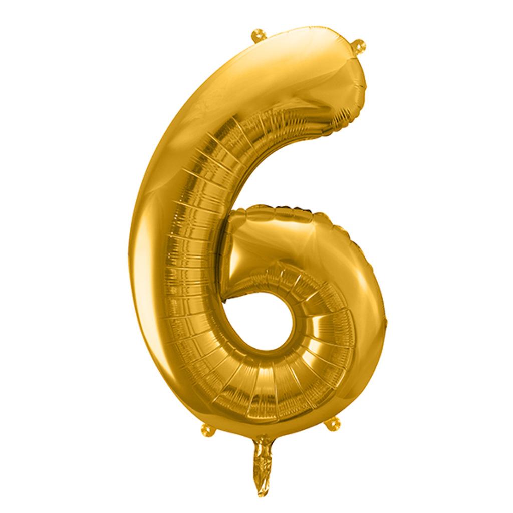 Balón fóliový č.6, zlatý