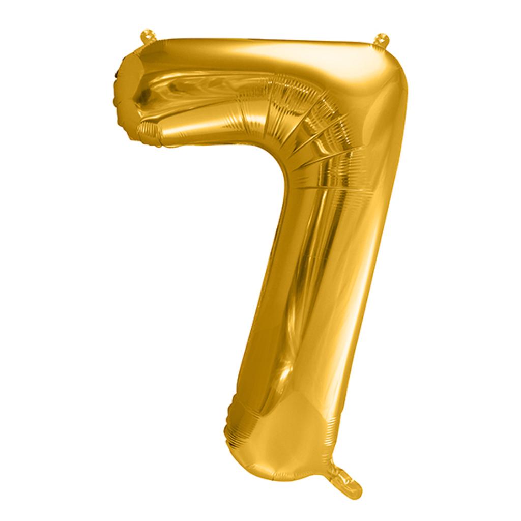 Balón fóliový č.7, zlatý