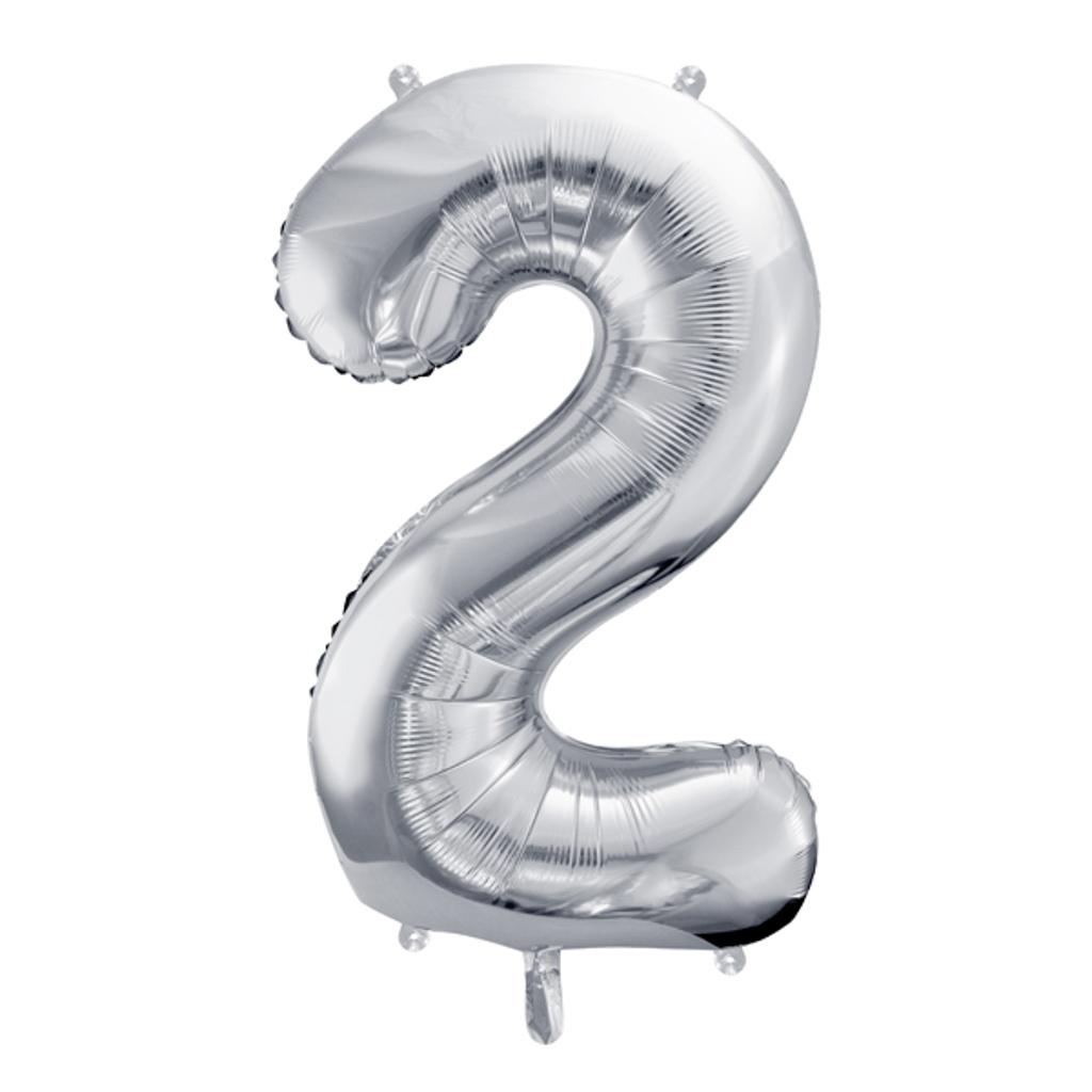 Balón fóliový č.2, strieborný