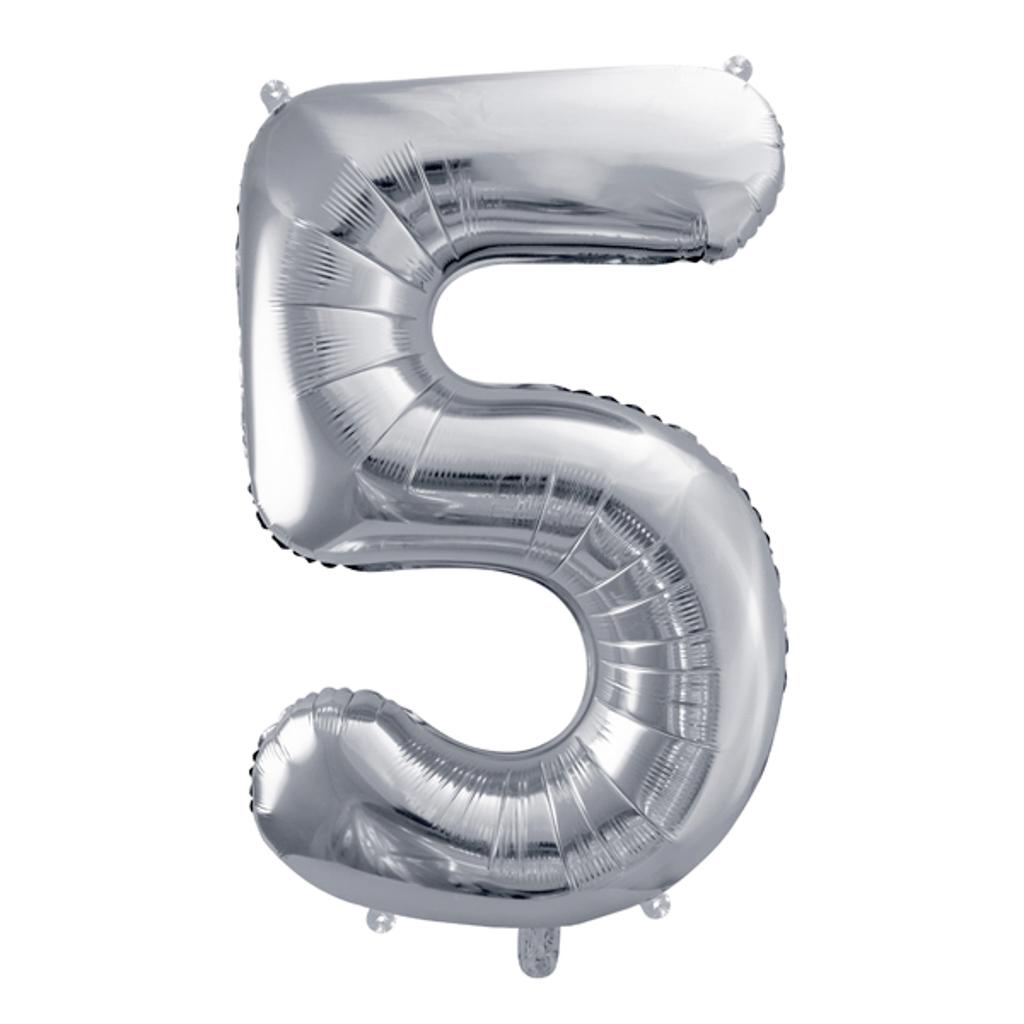 Balón fóliový č.5, strieborný