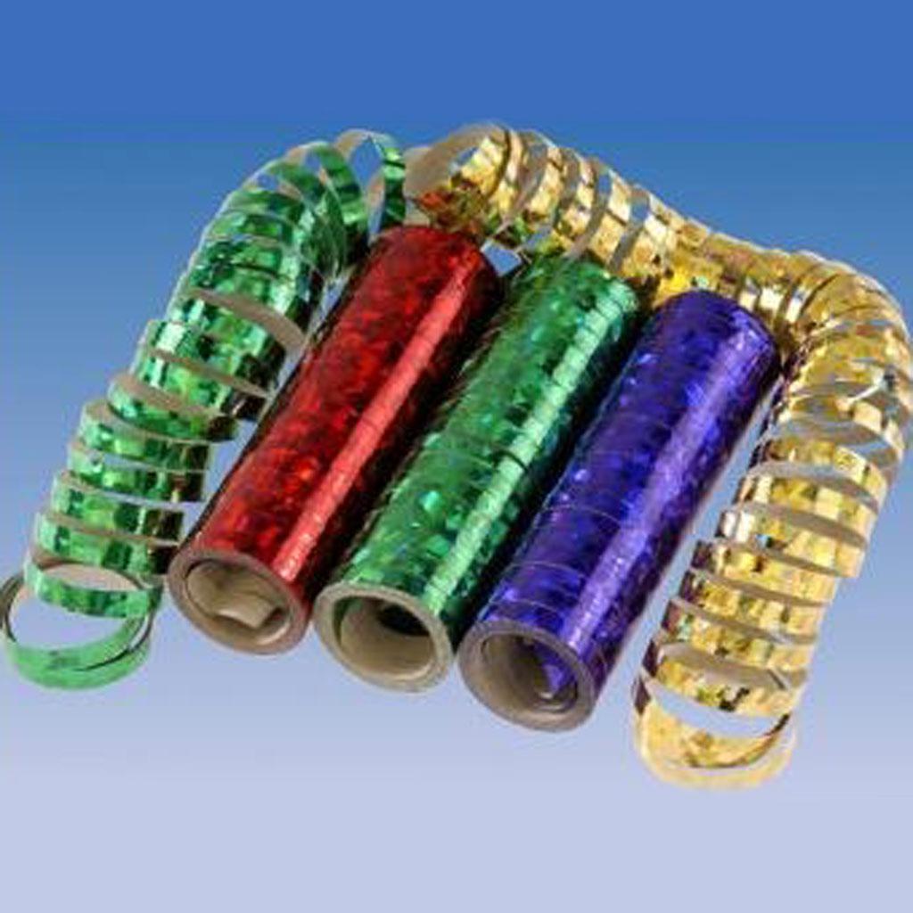 Serpentíny - pásy metalické, 3 rolky