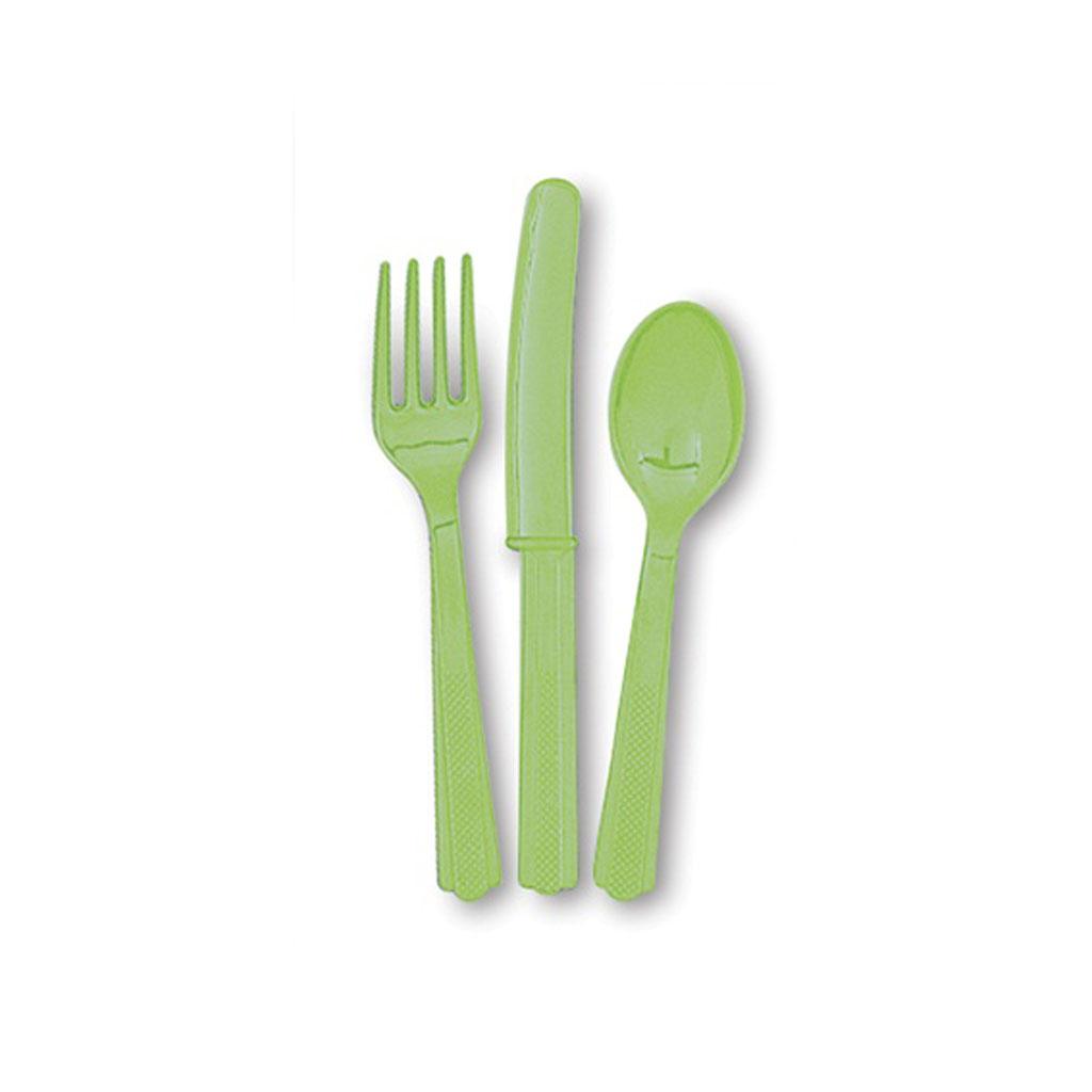 """Plastový príbor """"zelený"""", 18ks"""