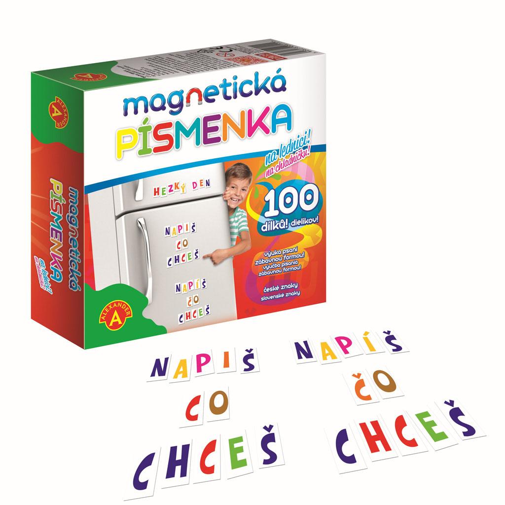 Magnetické písmenká, 100 ks