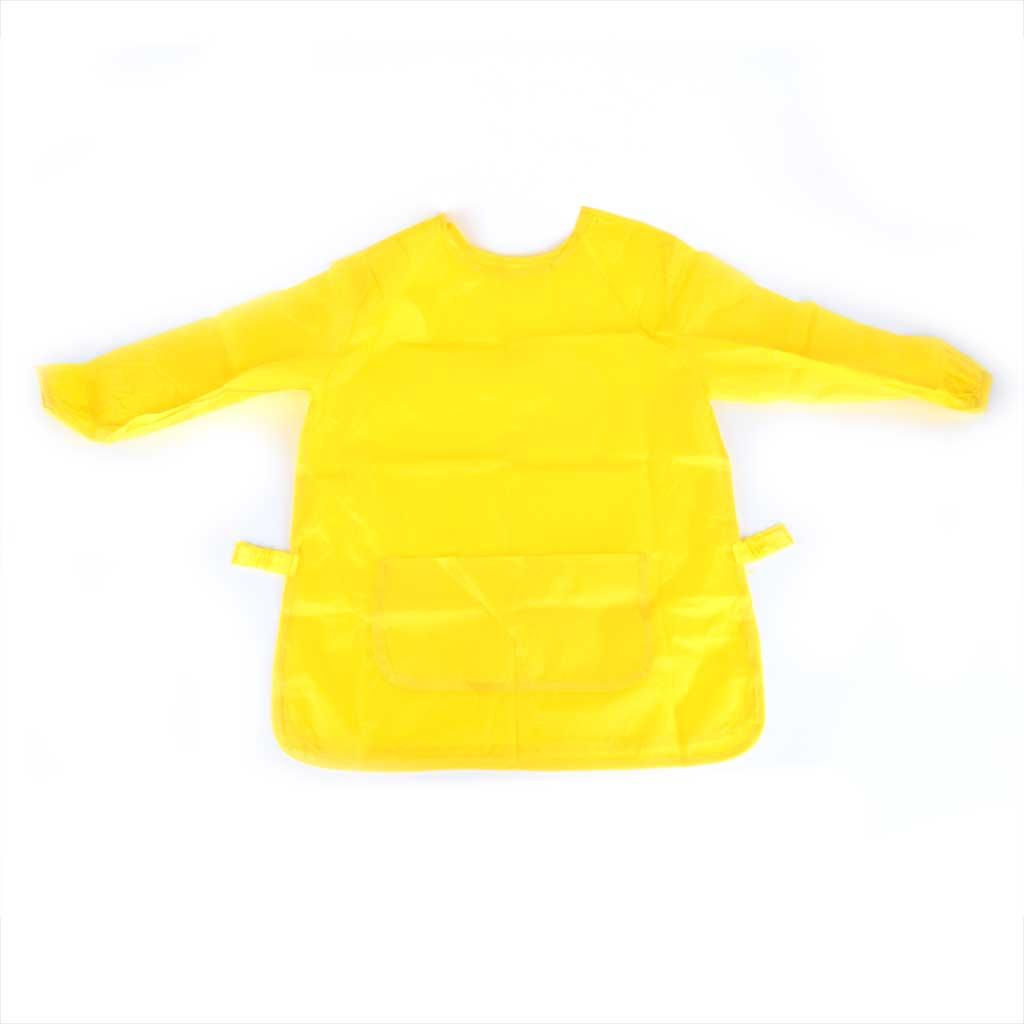 Zástera na maľovanie s rukávom, žltá, veľkosť S/M/L