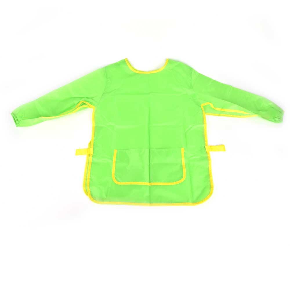 Zástera na maľovanie s rukávom, zelená, veľkosť S/M/L