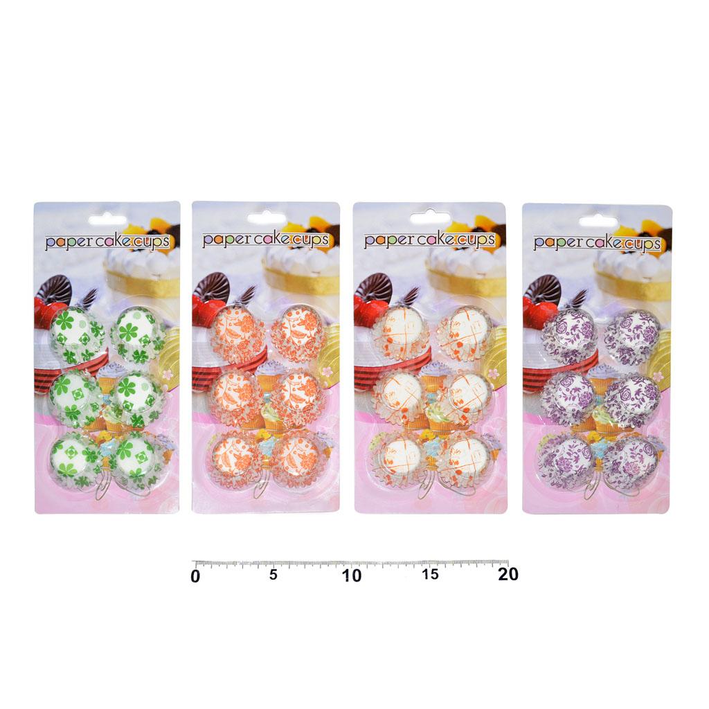 Košíčky farebné, priemer 25mm, 150ks, mix dizajnov