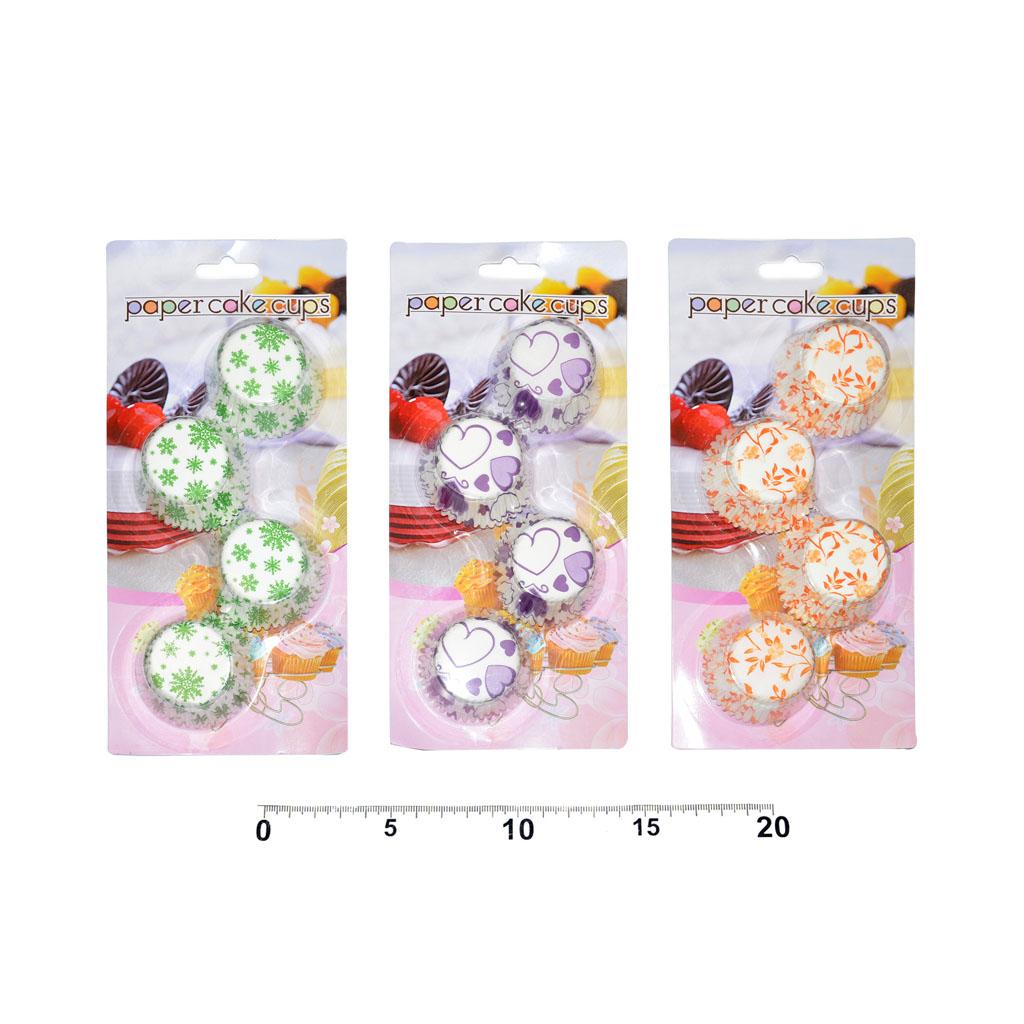 Košíčky farebné, priemer 35mm, 100ks, mix dizajnov