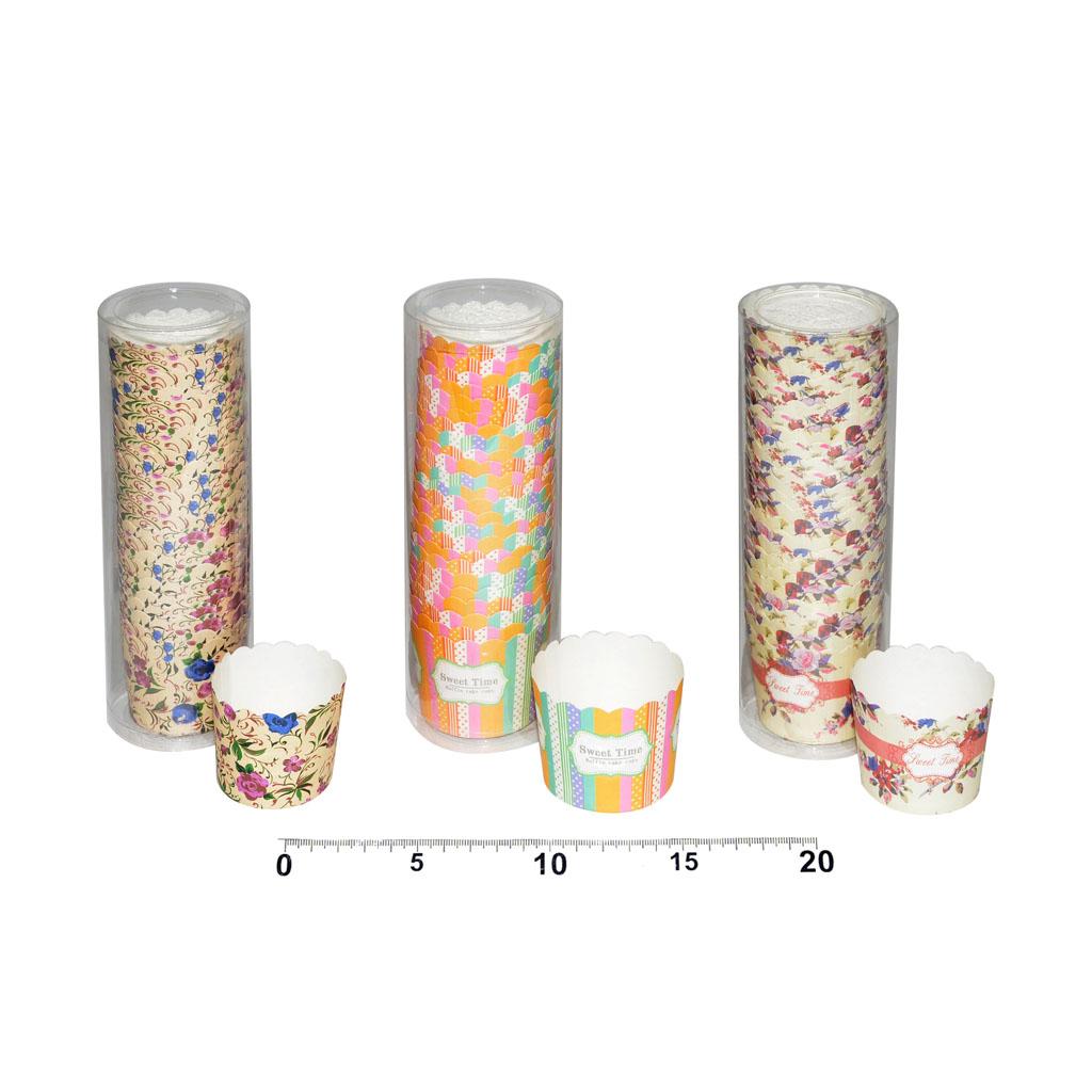 Košíčky farebné, priemer 55mm, 25ks, mix dizajnov