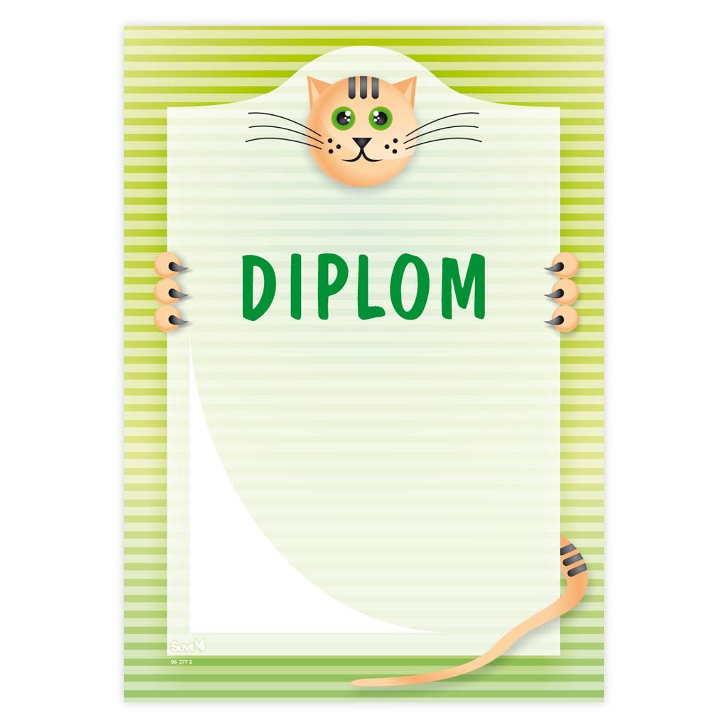 Diplom (univerzálny - mačička)