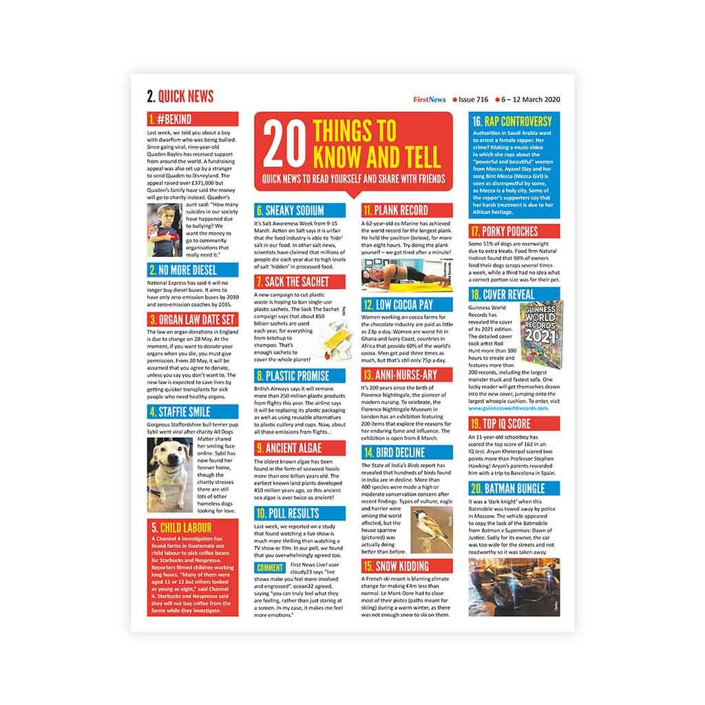 Noviny First News - číslo 8 (716/ 2020)