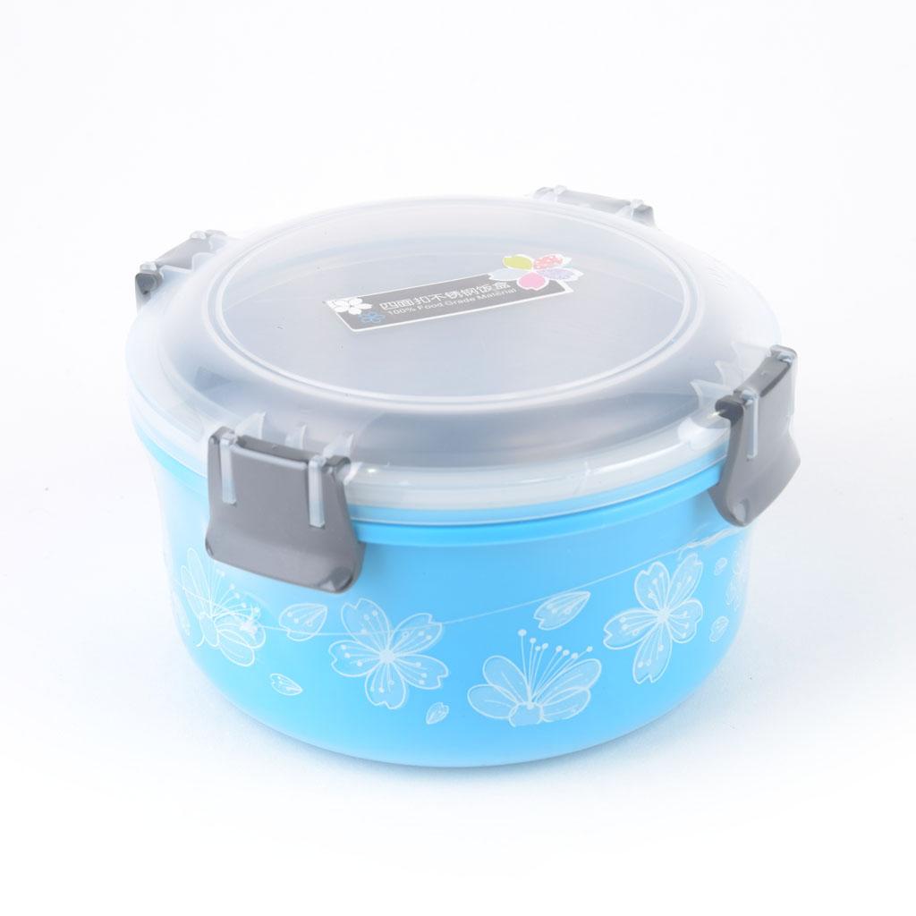 Nerezová dóza s klipovým uzáverom 1100ml, modrá