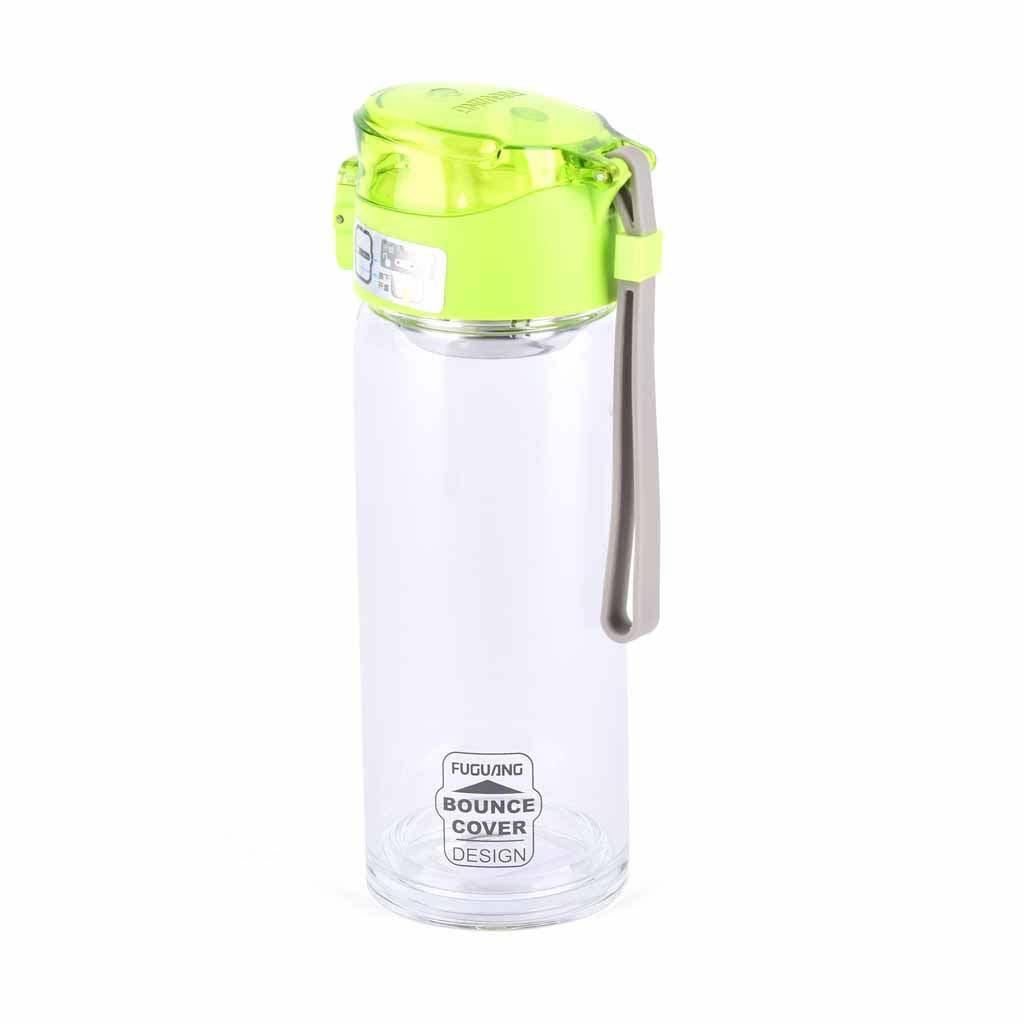 Sklenená fľaša 410 ml, mix farieb