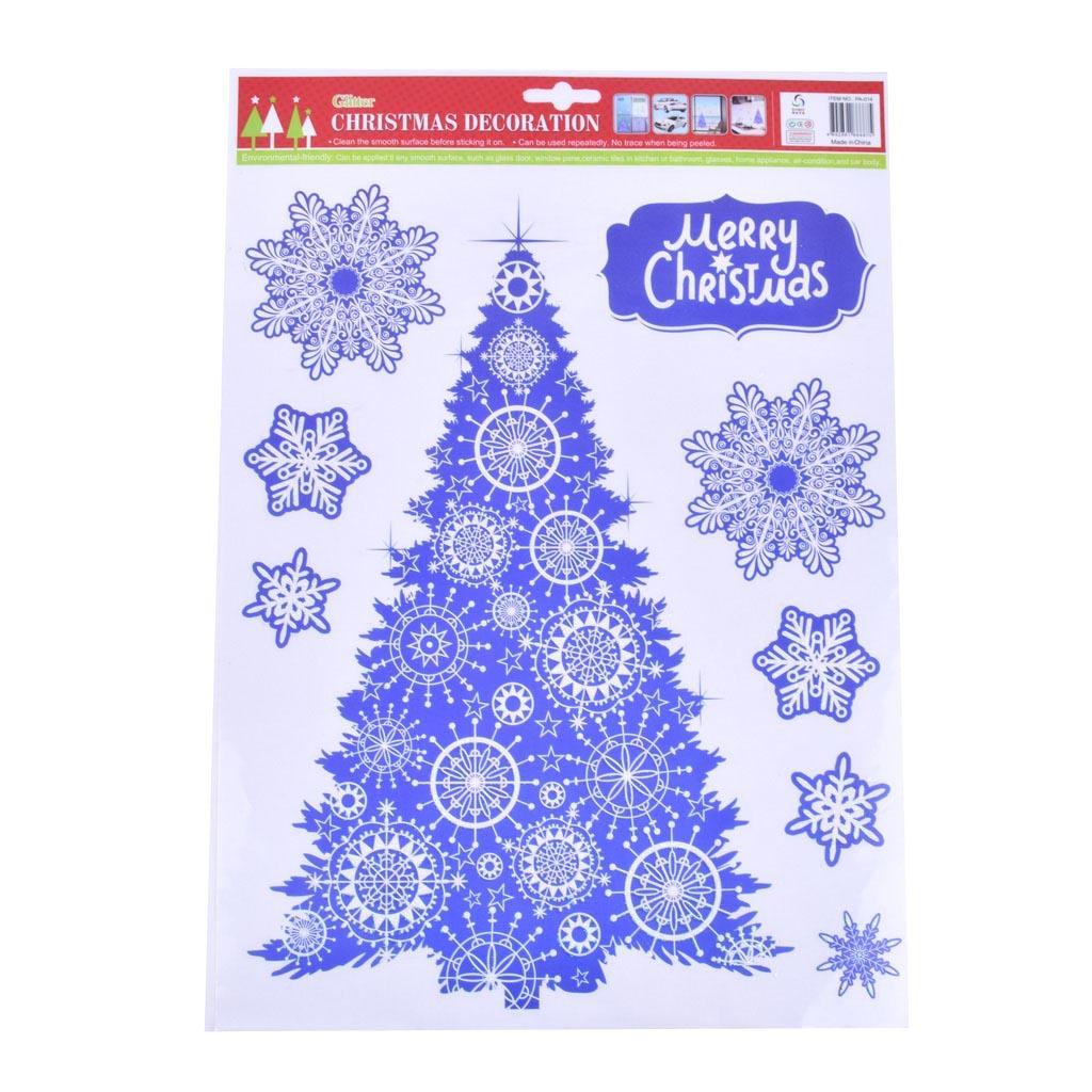 Nálepky na okno, Vianočné motívy, MIX