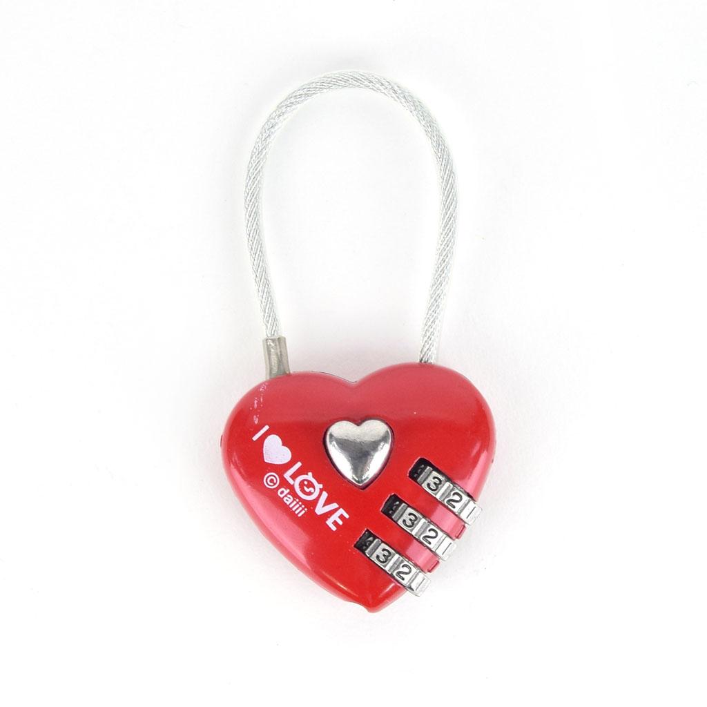"""Zámok s číselným kódom, """"srdce"""", mix motívov"""