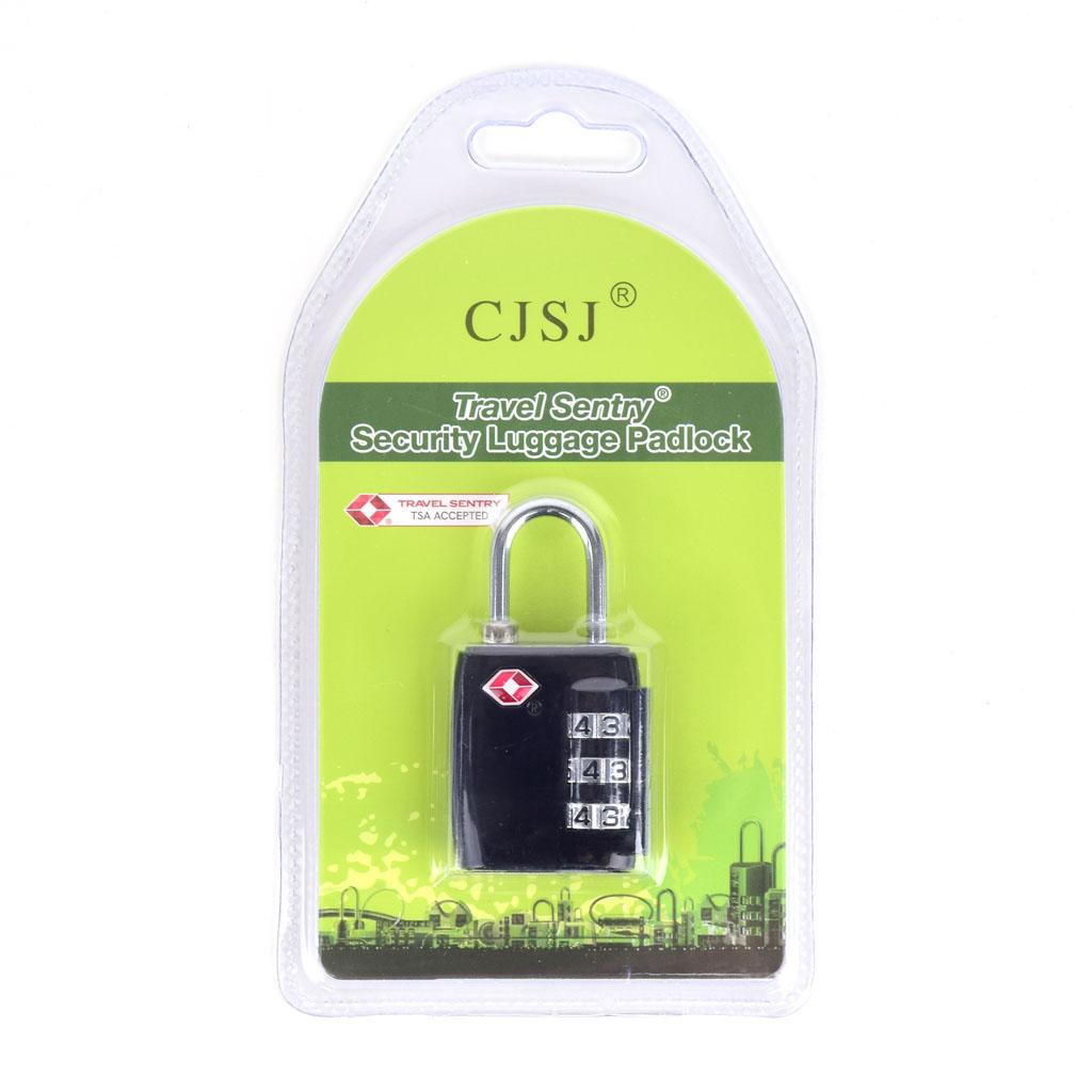 Zámok s číselným kódom, TSA, jednofarebný, mix farieb