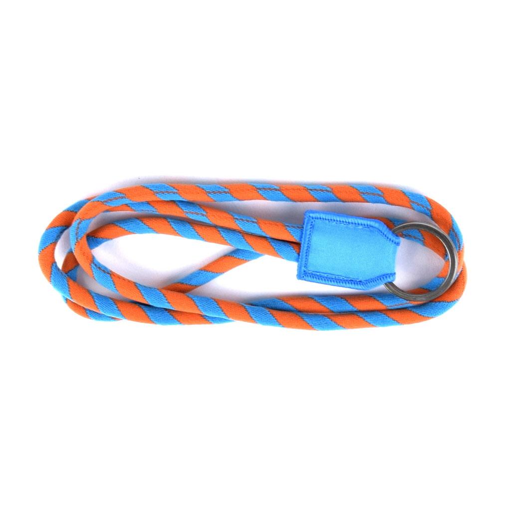 Šnúrka na krk, oranžovo-modrá, s krúžkom