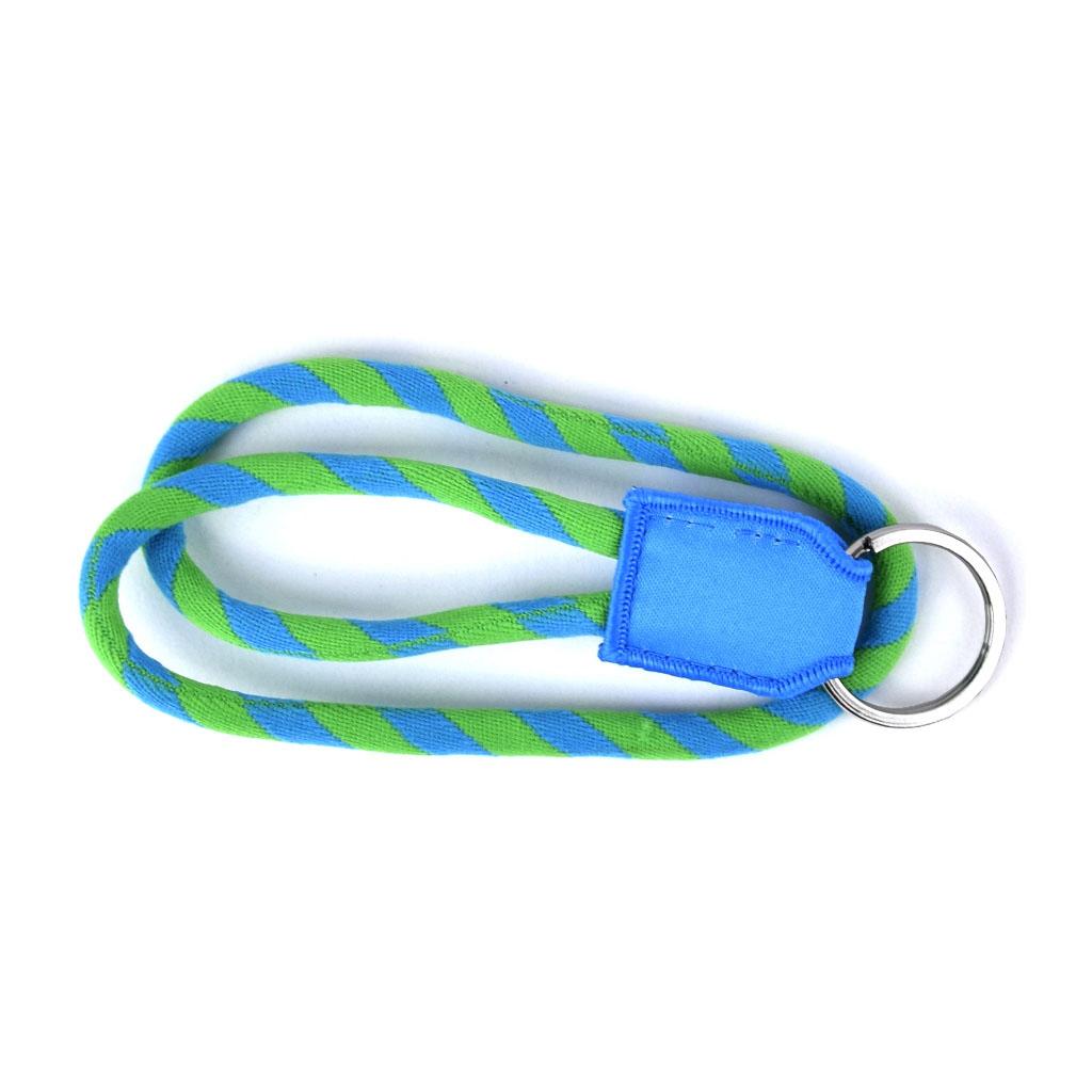 Šnúrka , zeleno-modrá, s krúžkom, krátka