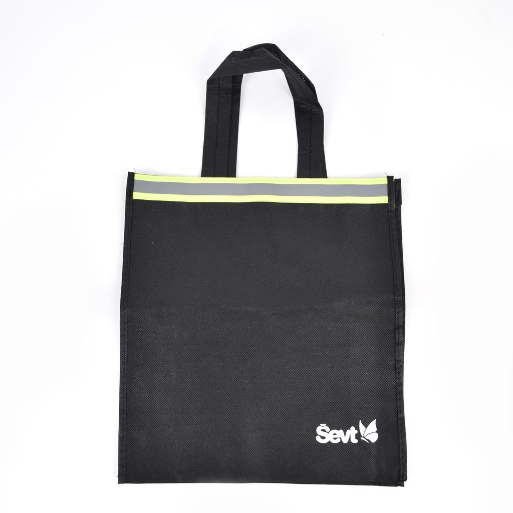 Reflexná textilná tašká - rozmer vxš: 35x32cm