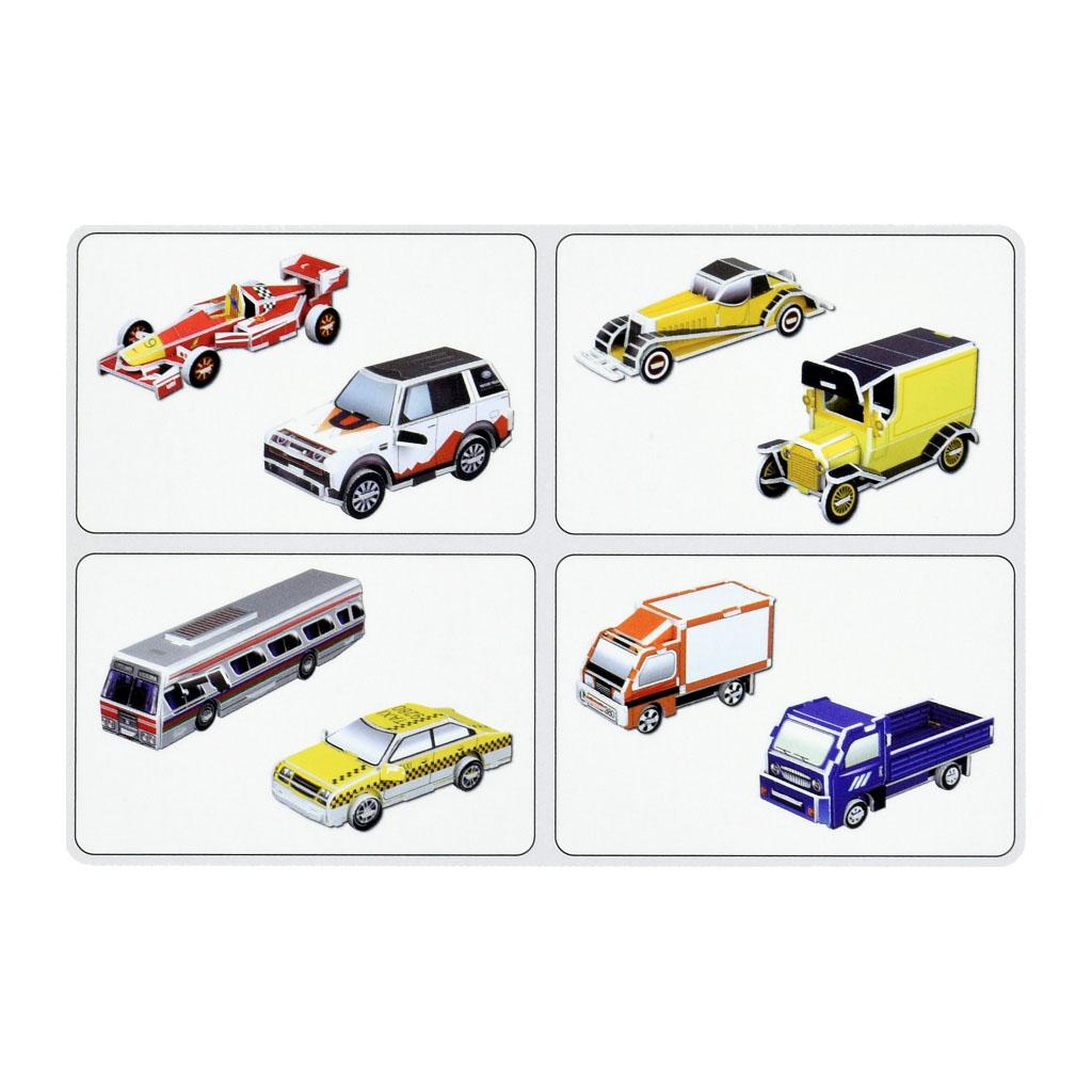3D Puzzle - Autá, 122 dielikov