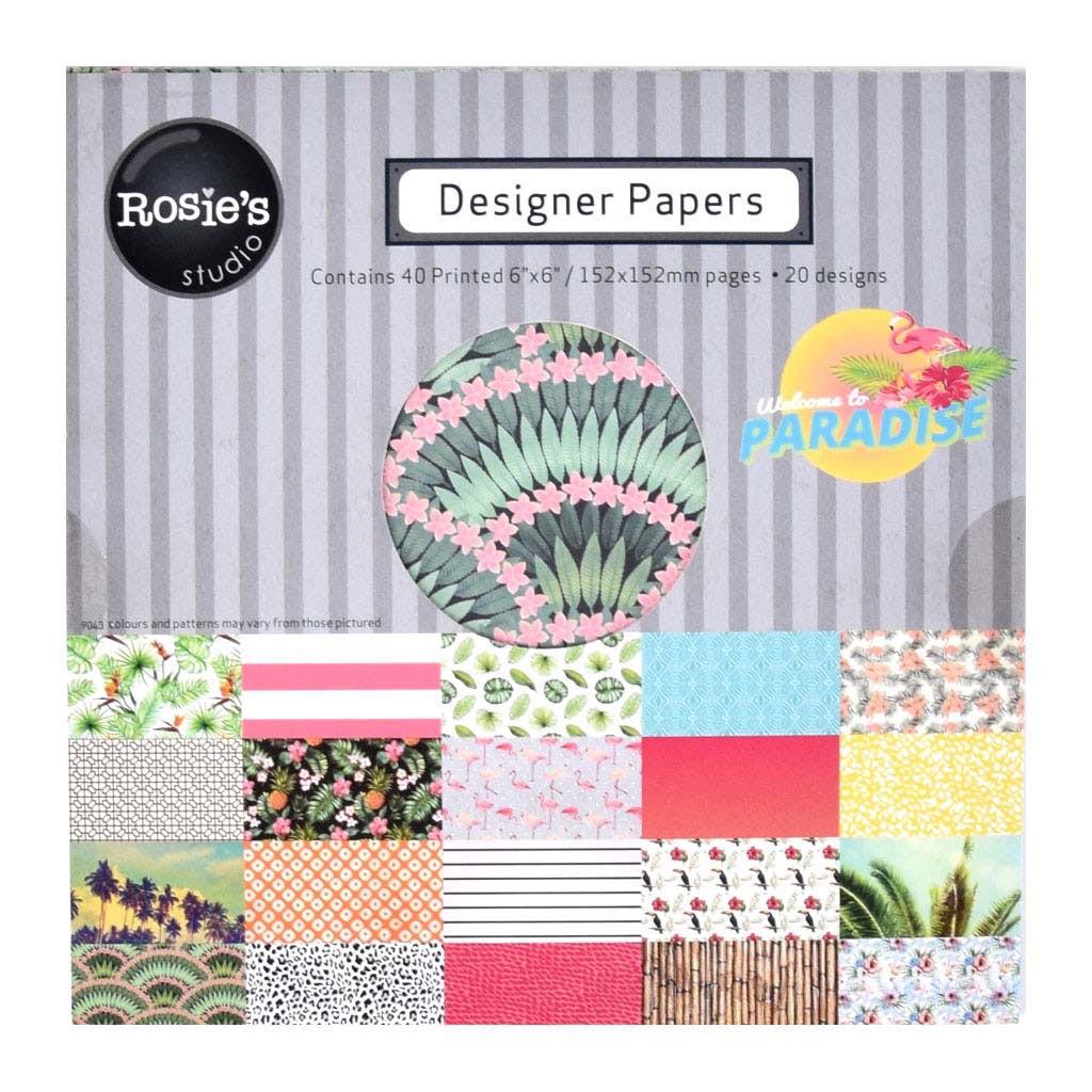 """Kreatívny set na Scrapbooking """"Rossie"""", 15,24x15,24cm, 40 listov, mix motívov papierov"""