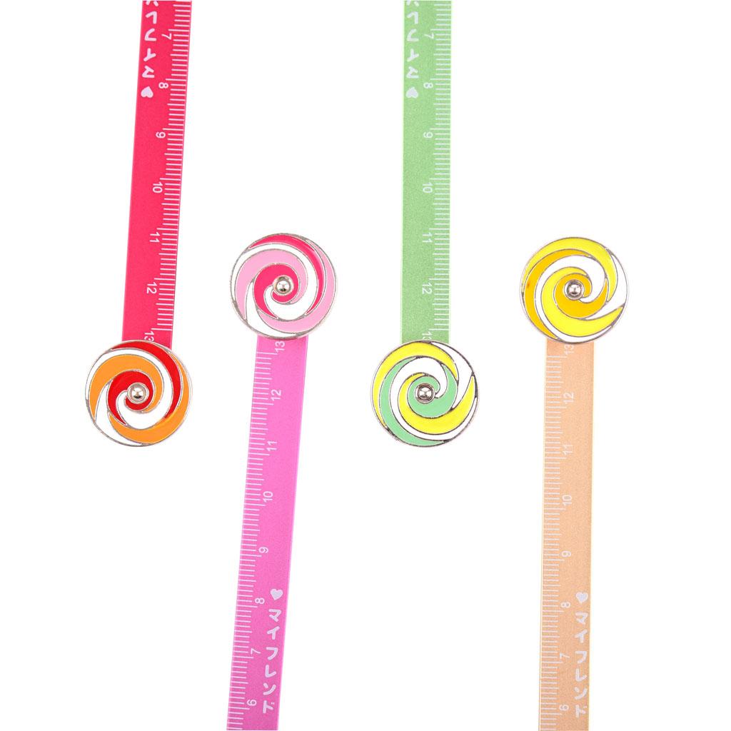 Pravítko motív cukríky,10cm mix farieb
