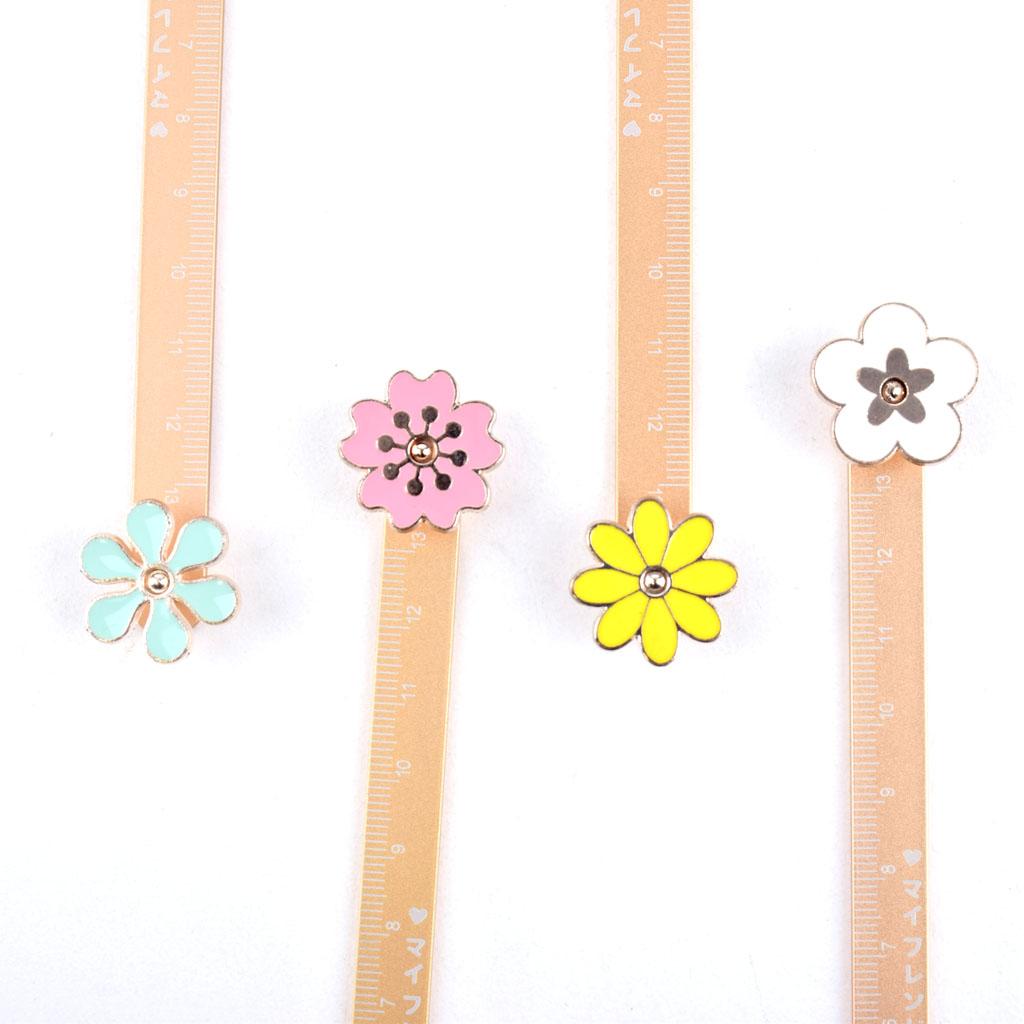 Pravítko motív kvety, 10cm  mix farieb