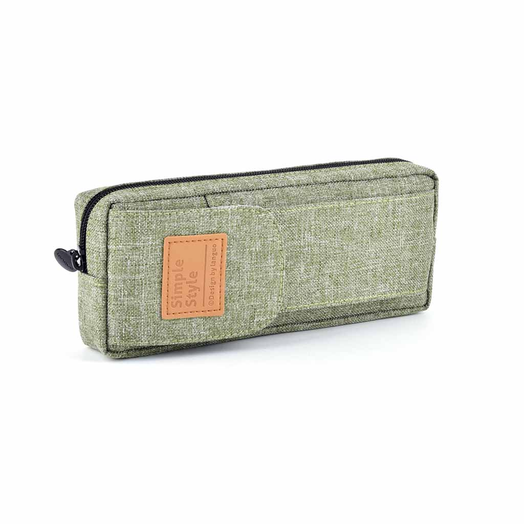 Puzdro na perá, 1 zip. prázd., textilný, mix farieb