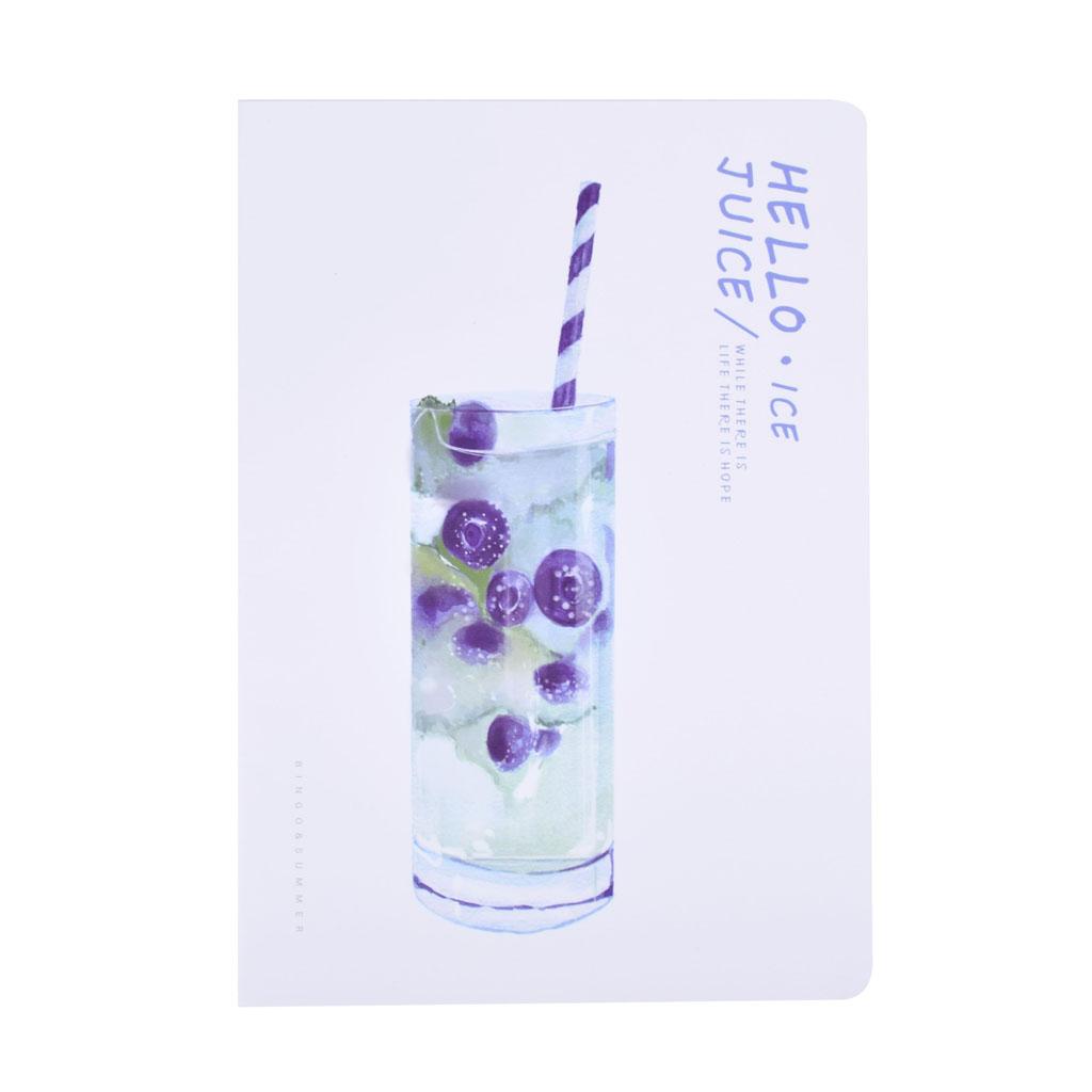 """Poznámkový blok B5, linajkový, 42 l., šitý """"Hello ice juice"""", mix motívov"""