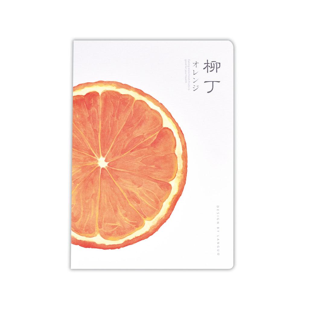 Poznámkový blok B5, linajkový, 42l., šitý, ovocie, mix motívov