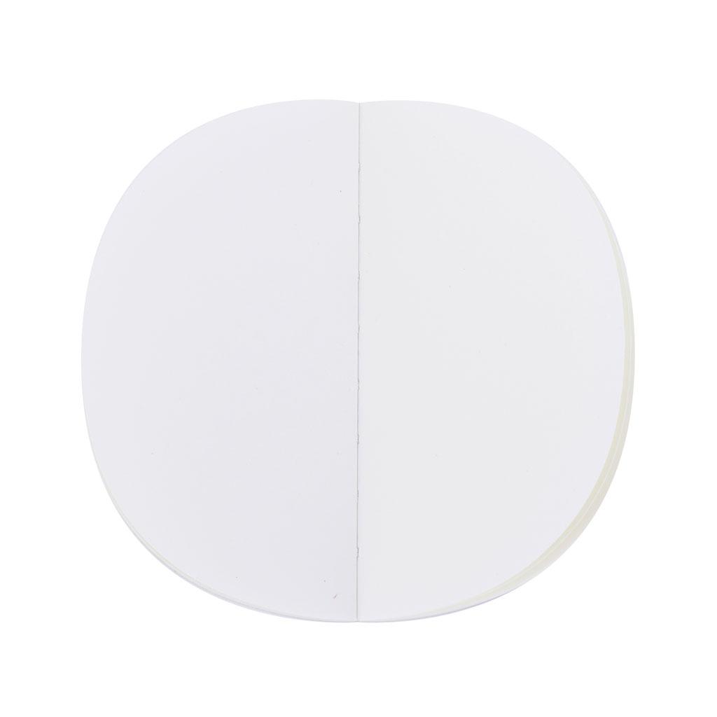 Poznámkový blok, čistý, 80l., polkruh, mix motívov