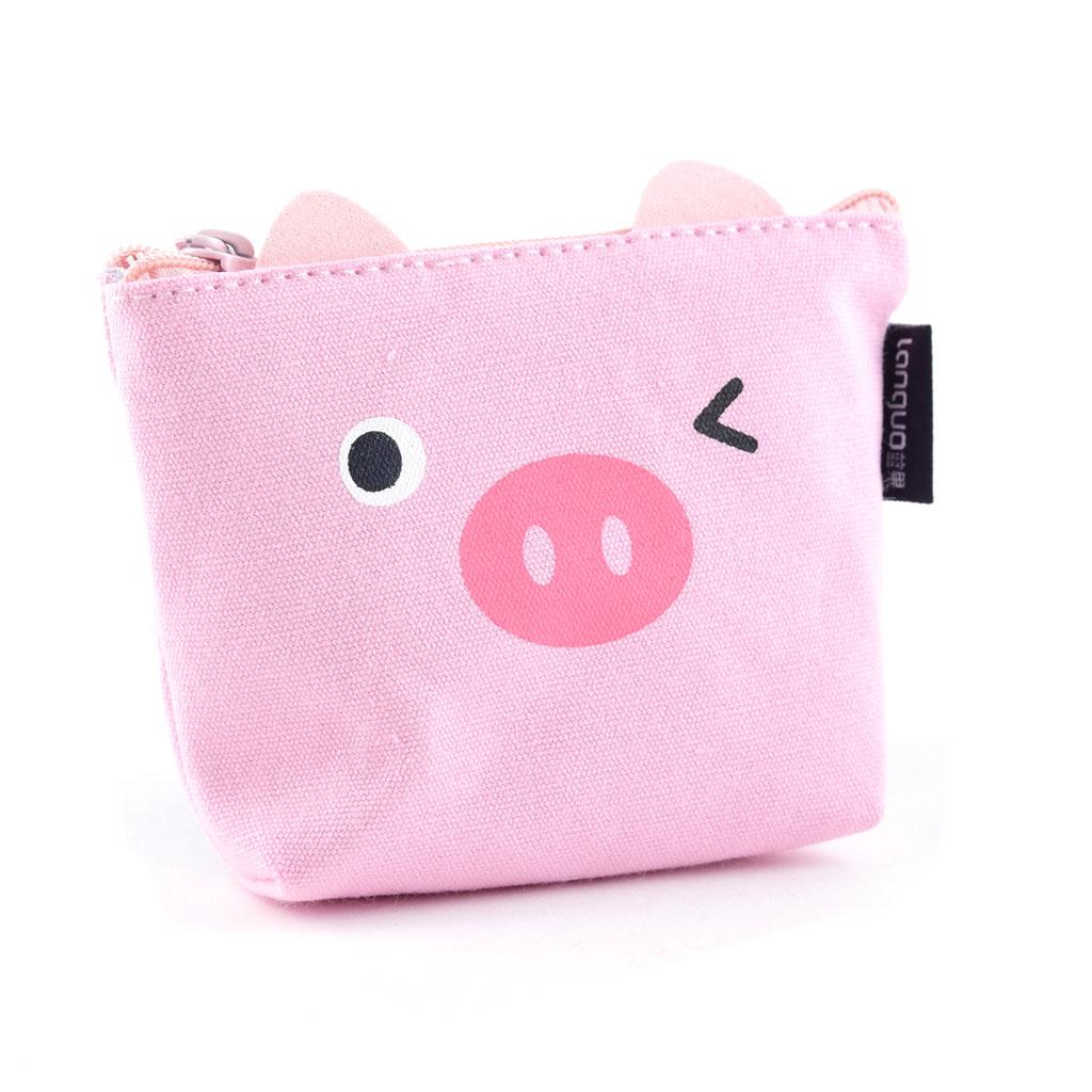 Peňaženka, 1 zips, textilná, prasiatko