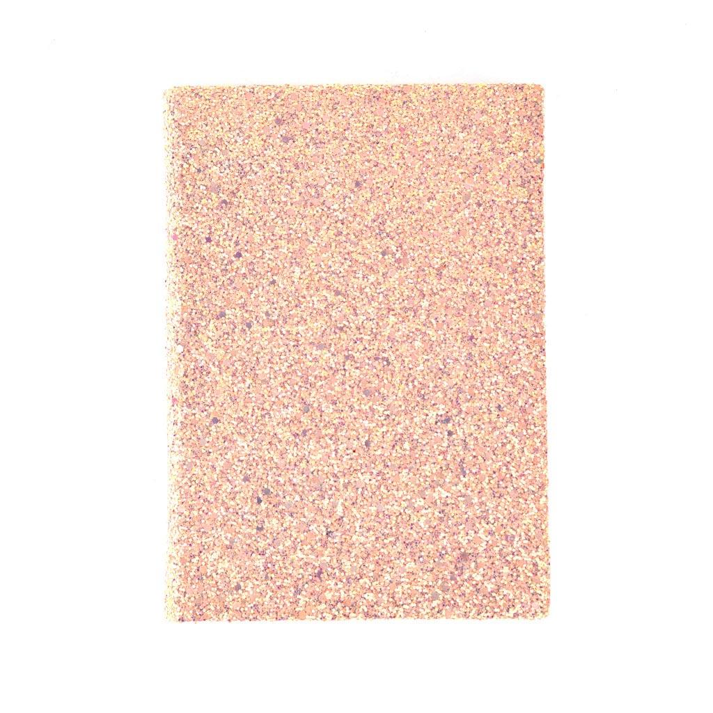 Poznámkový blok s glitrami 128x185mm, mix liniatúr, 80l., mix farieb