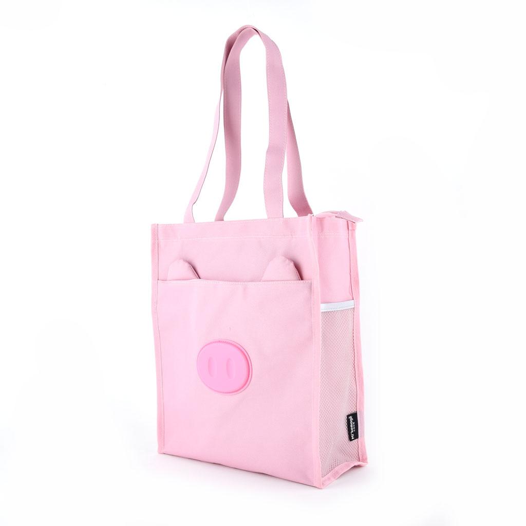 Textilná taška so zipsom, prasiatko
