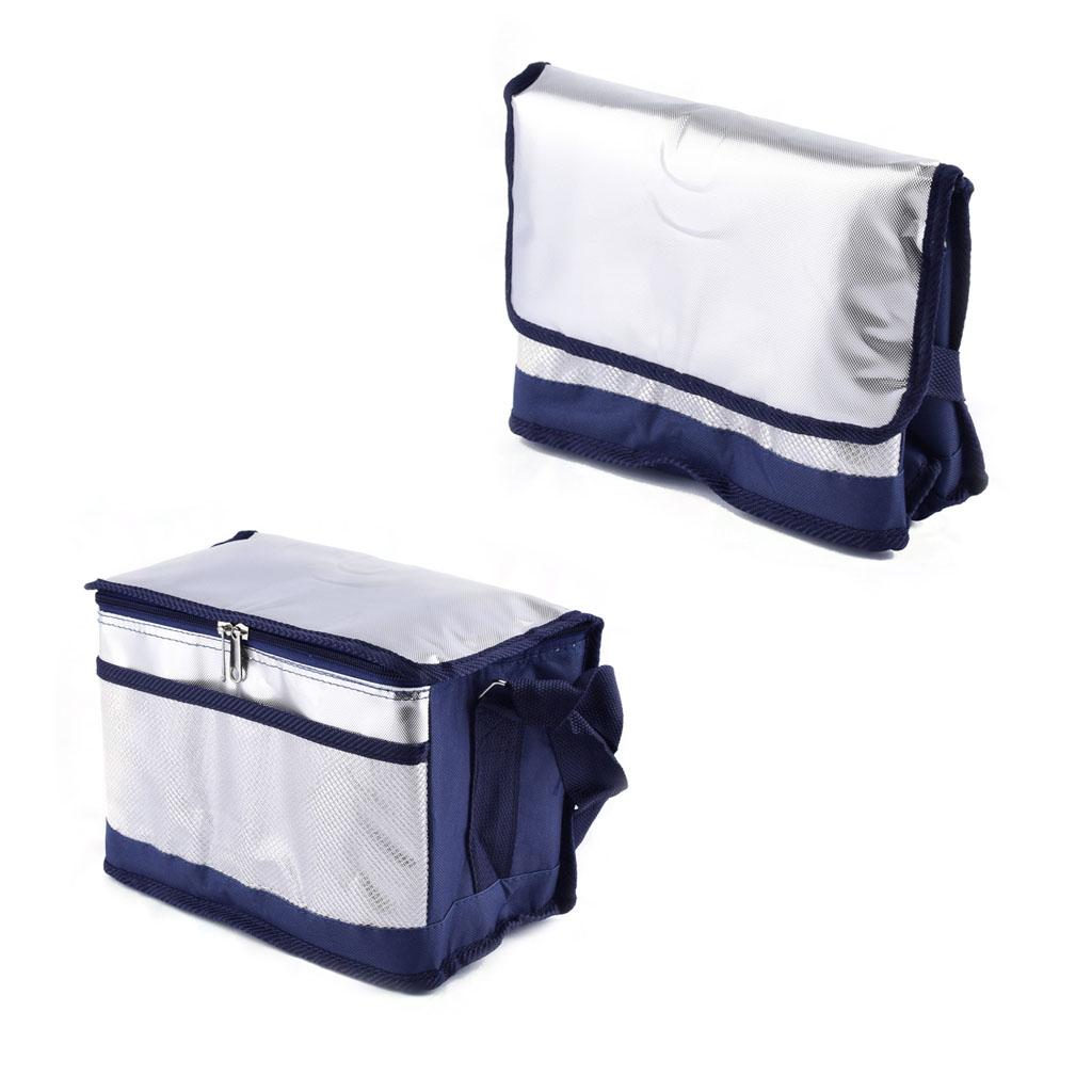 Termo taška, 28x16x20cm - strieborná
