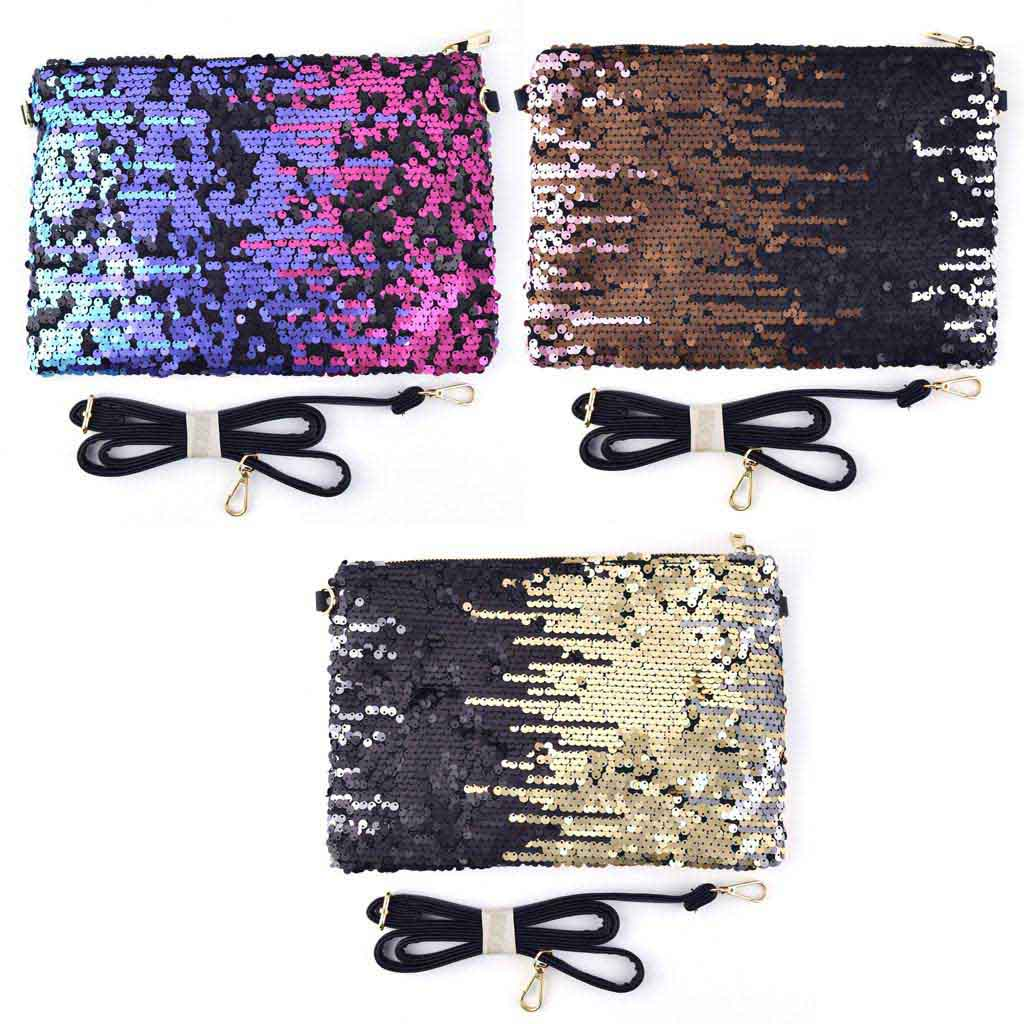 Kabelka s flitrami väčšia - mix farieb