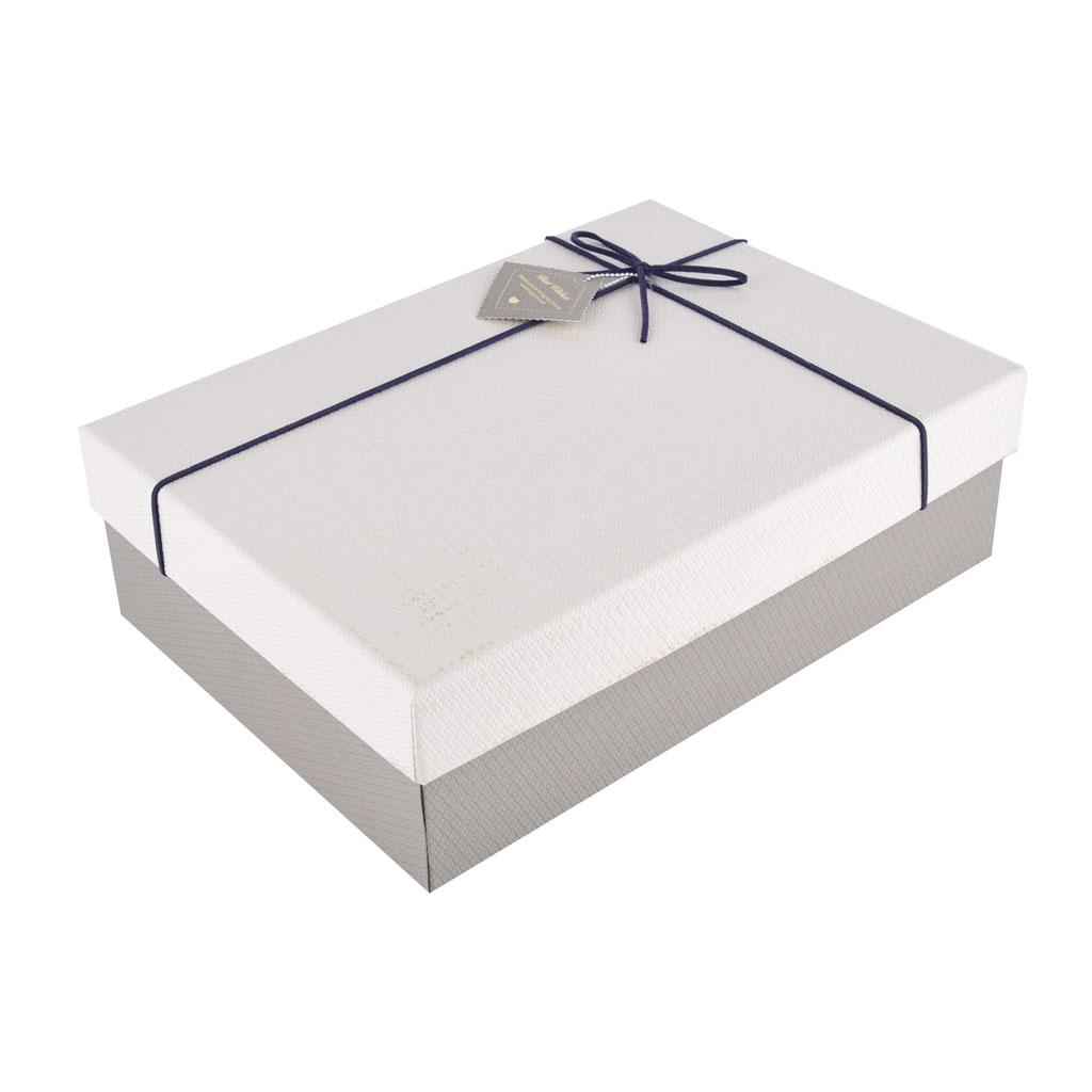 Papierová krabica 29x21x9 cm, šedá s béžovým vekom