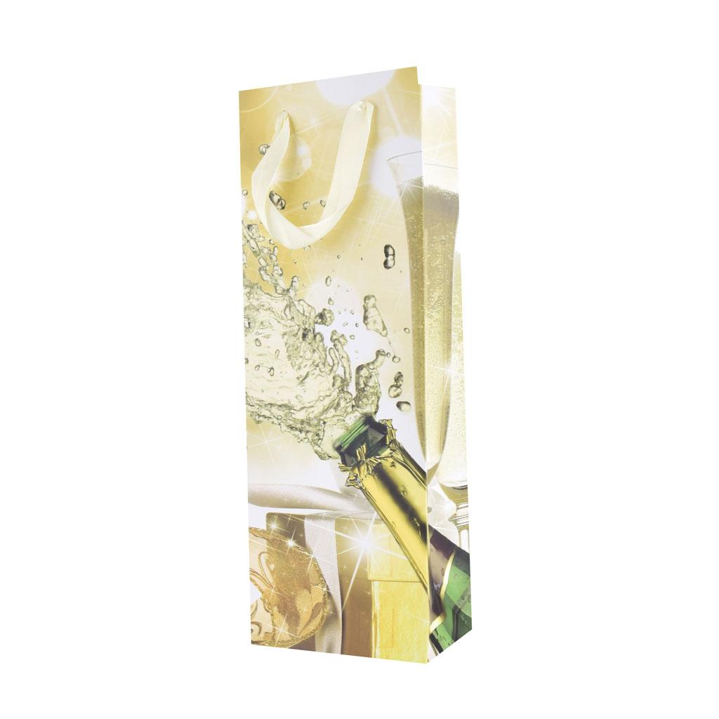 Darčeková taška na fľašu, mix motívov