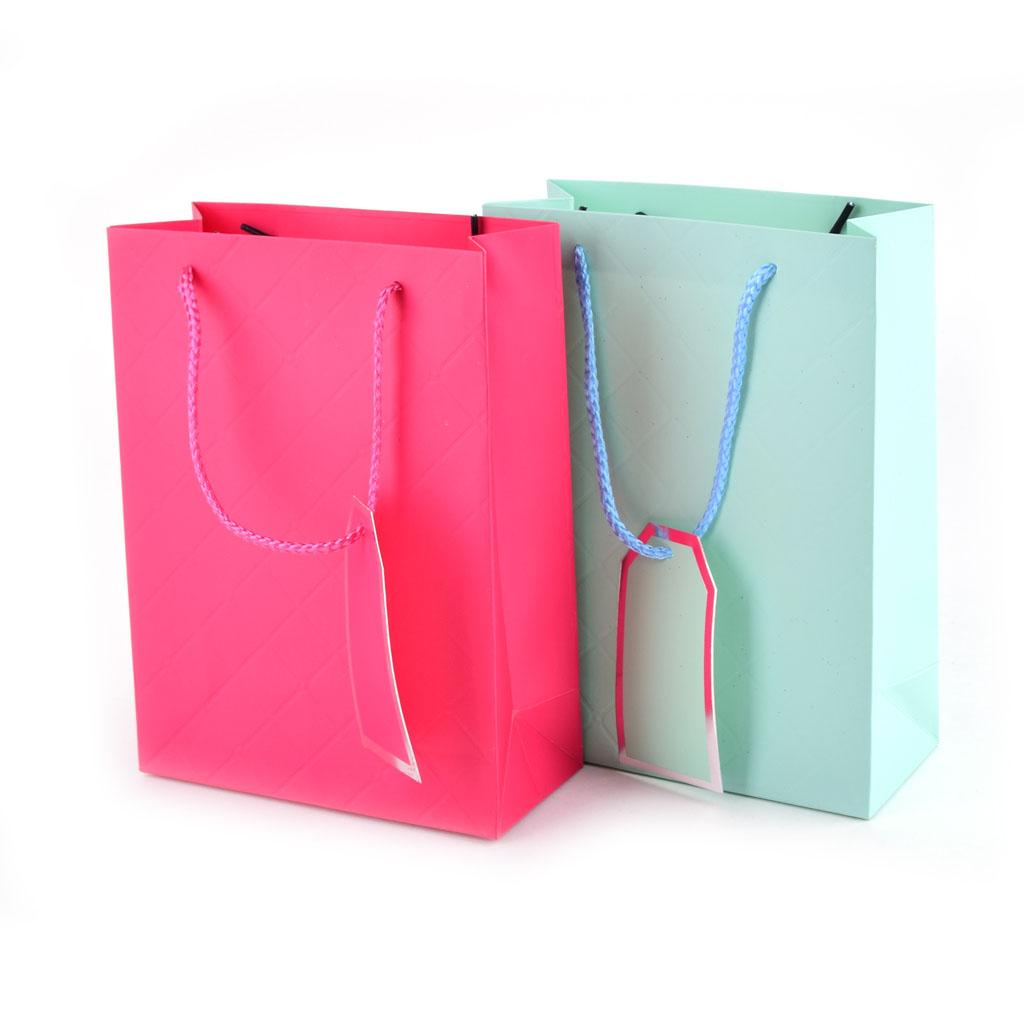 Darčeková taška jednofarebná veľkosť S, mix farieb