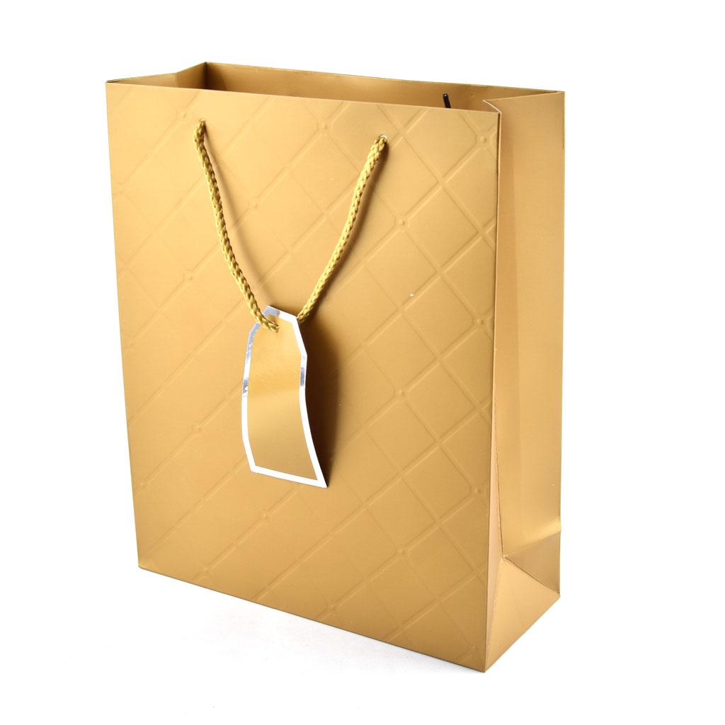 Darčeková taška jednofarebná veľkosť M, mix farieb
