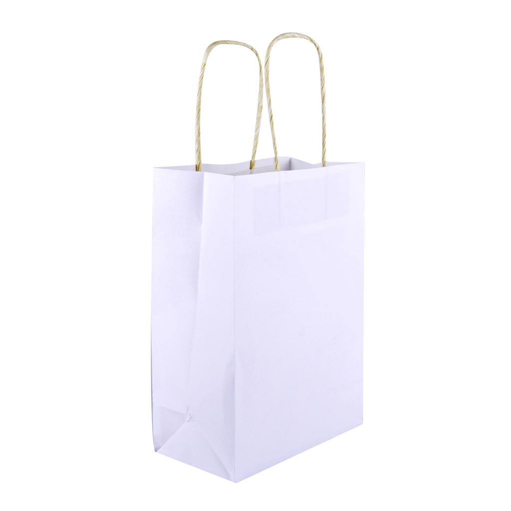 Papierová taška jednofarebná veľkosť XS, mix farieb