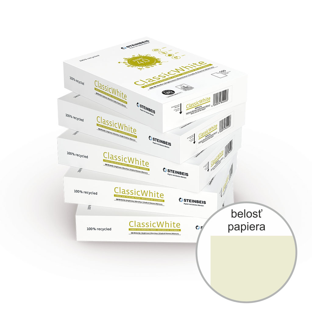 Papier kopírovací recyklovaný Classic White A4 80 g